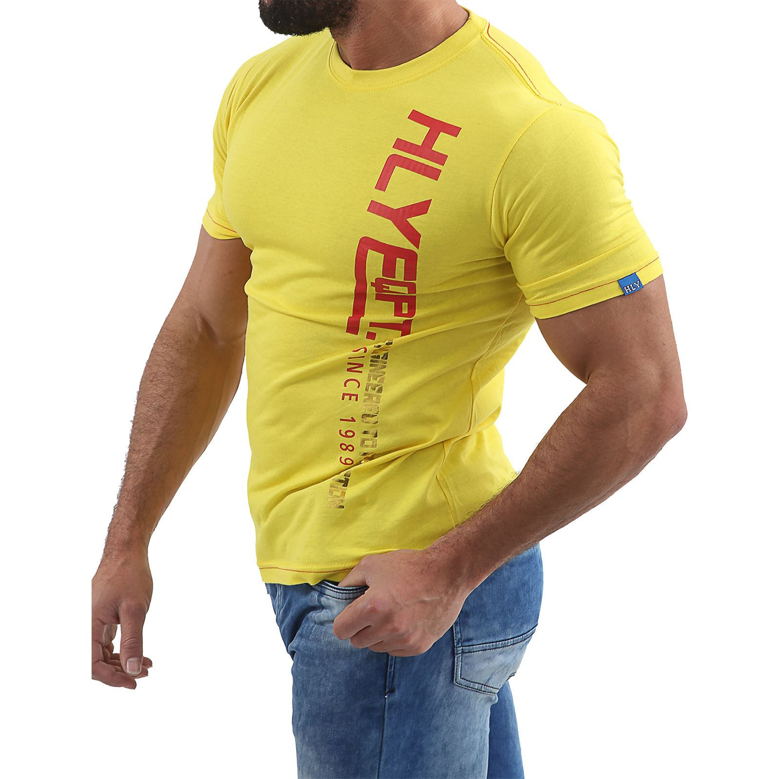 Mens-HLY-EQPT-Printed-T-Shirt-100-Cotton-Gym-Athletic-Training-Tee-Top-Summer thumbnail 18