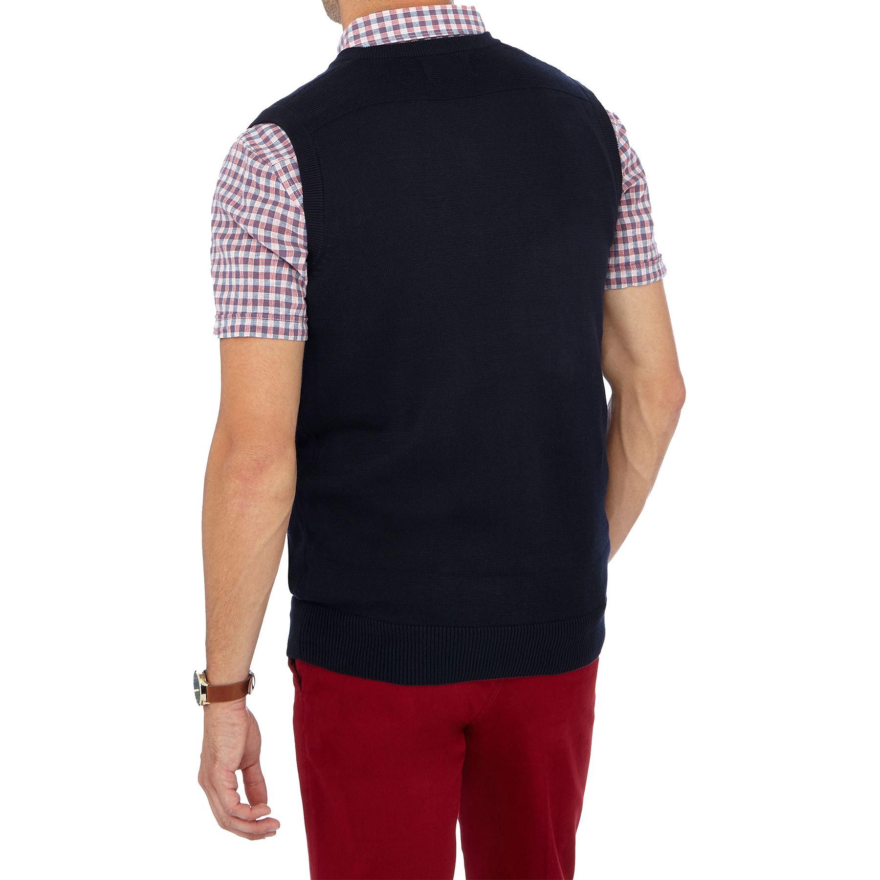 Marks /& Spencer Mens Pullover M/&S Sleeveless Slip Over Jumper Cotton Tank Top