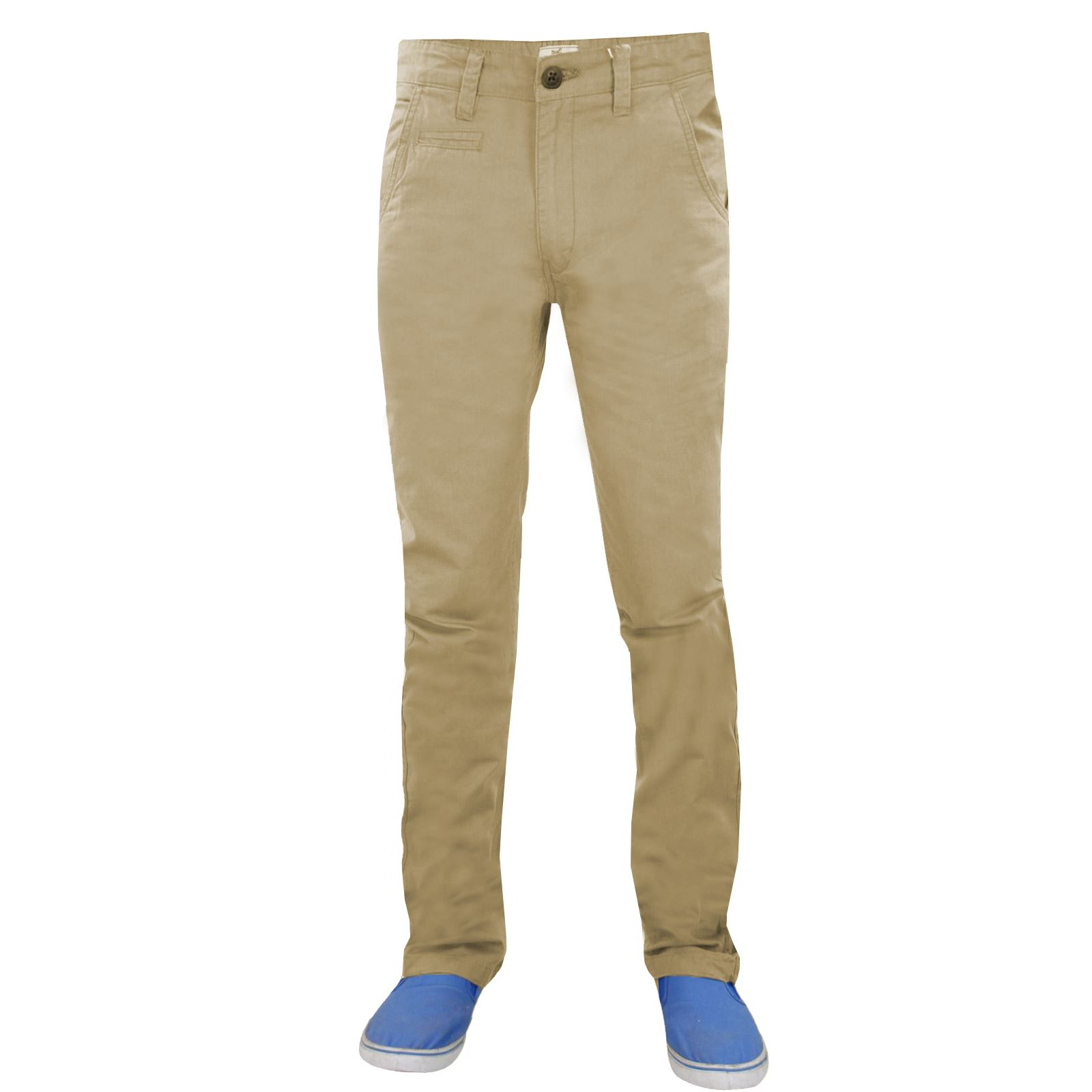 New Mens Designer Trousers Stretch Chino Skinny Slim Fit Jeans Pants ... a92db73f00