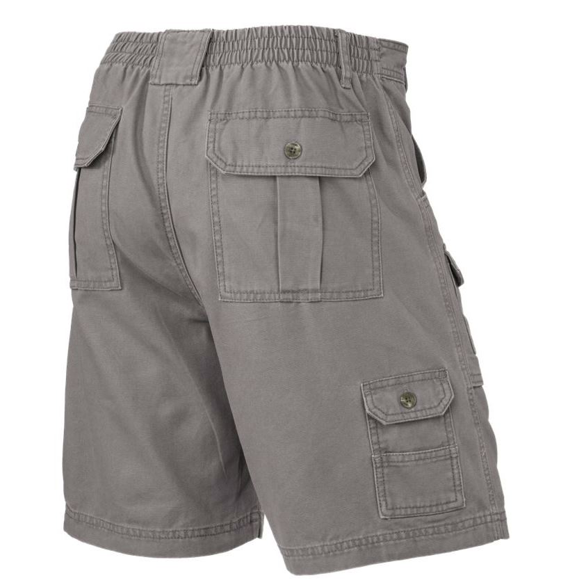 Mens-Elasticated-Cargo-Chino-Combat-Shorts-100-Cotton-Work-King-Pants-32-54 thumbnail 7