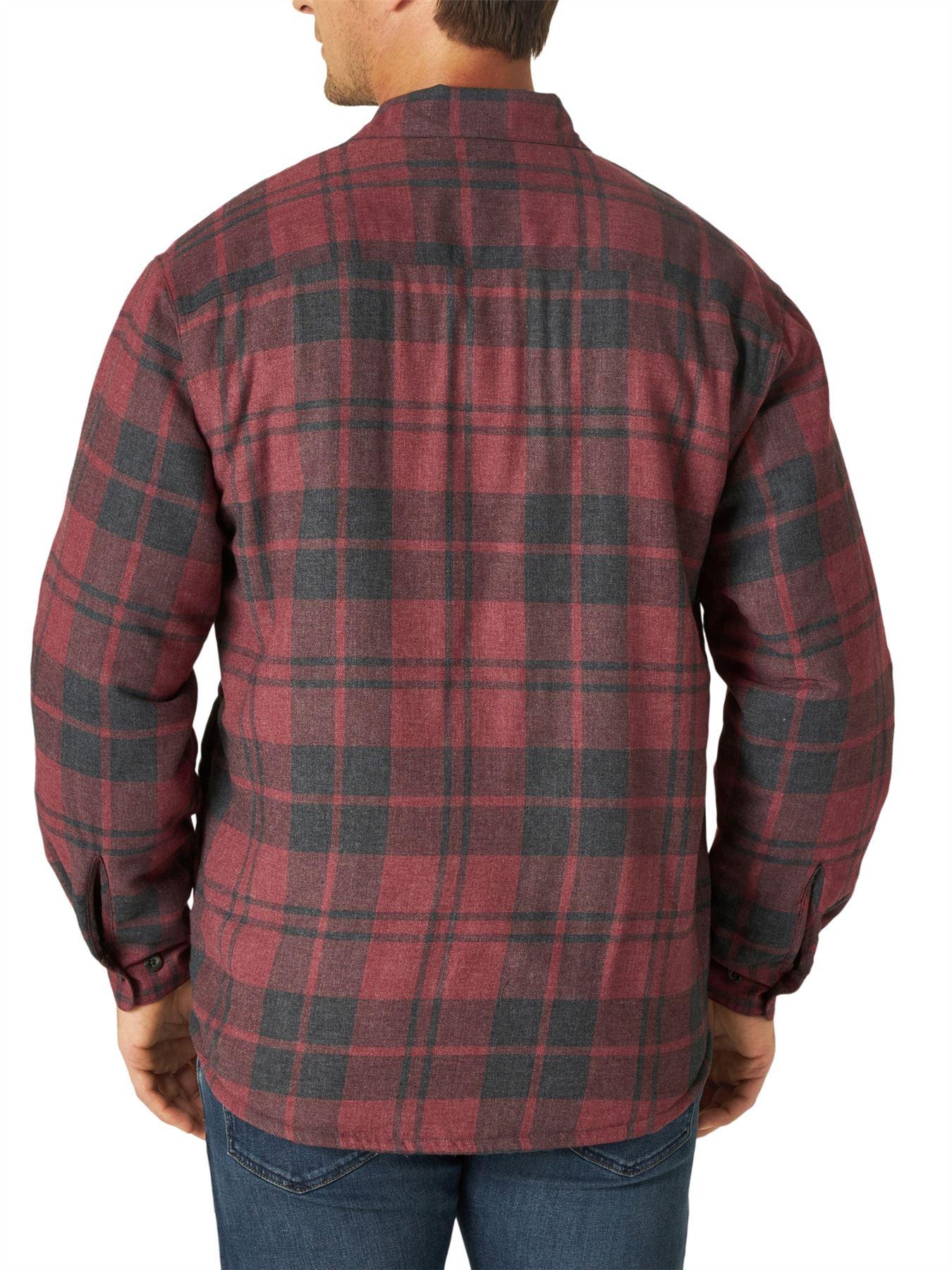 miniature 11 - Homme-Wrangler-Sherpa-Polaire-Double-Lumberjack-Rembourre-Veste-Chemise-Boutonnee