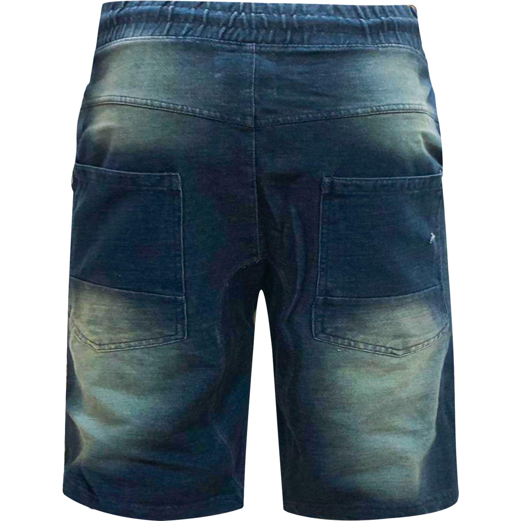 Para-hombre-Pantalones-cortos-de-mezclilla-con-aspecto-envejecido-rasgada-Deshilachado-Stretch-Jean miniatura 5