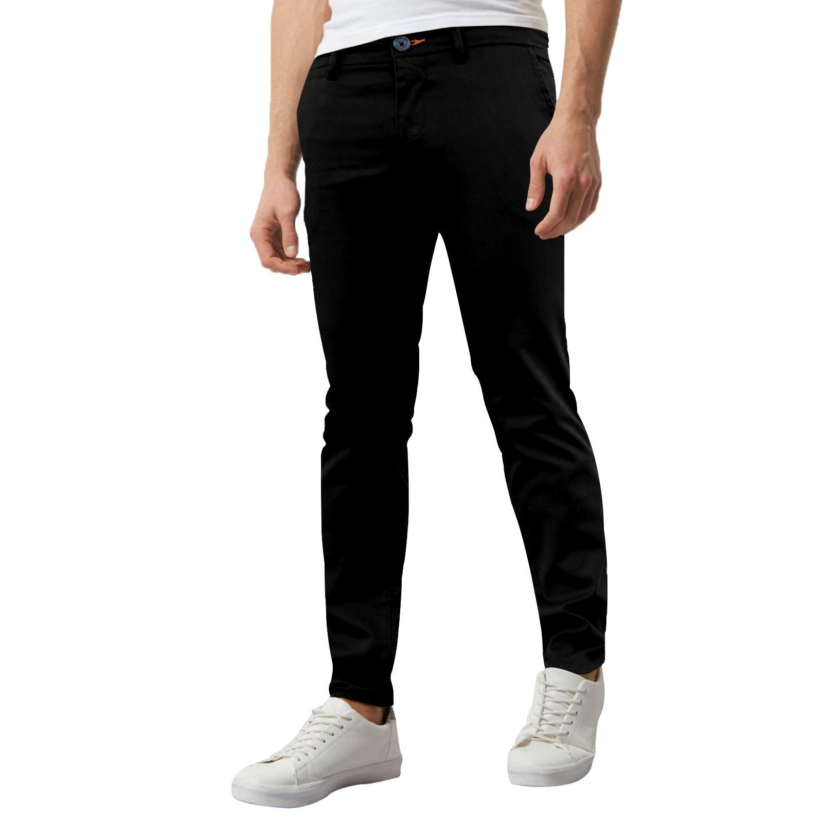 Jeans-Para-Hombre-de-Disenador-Nuevo-chinos-Elastizados-ajustados-Calce-Ajustado-Pantalones-todos miniatura 18