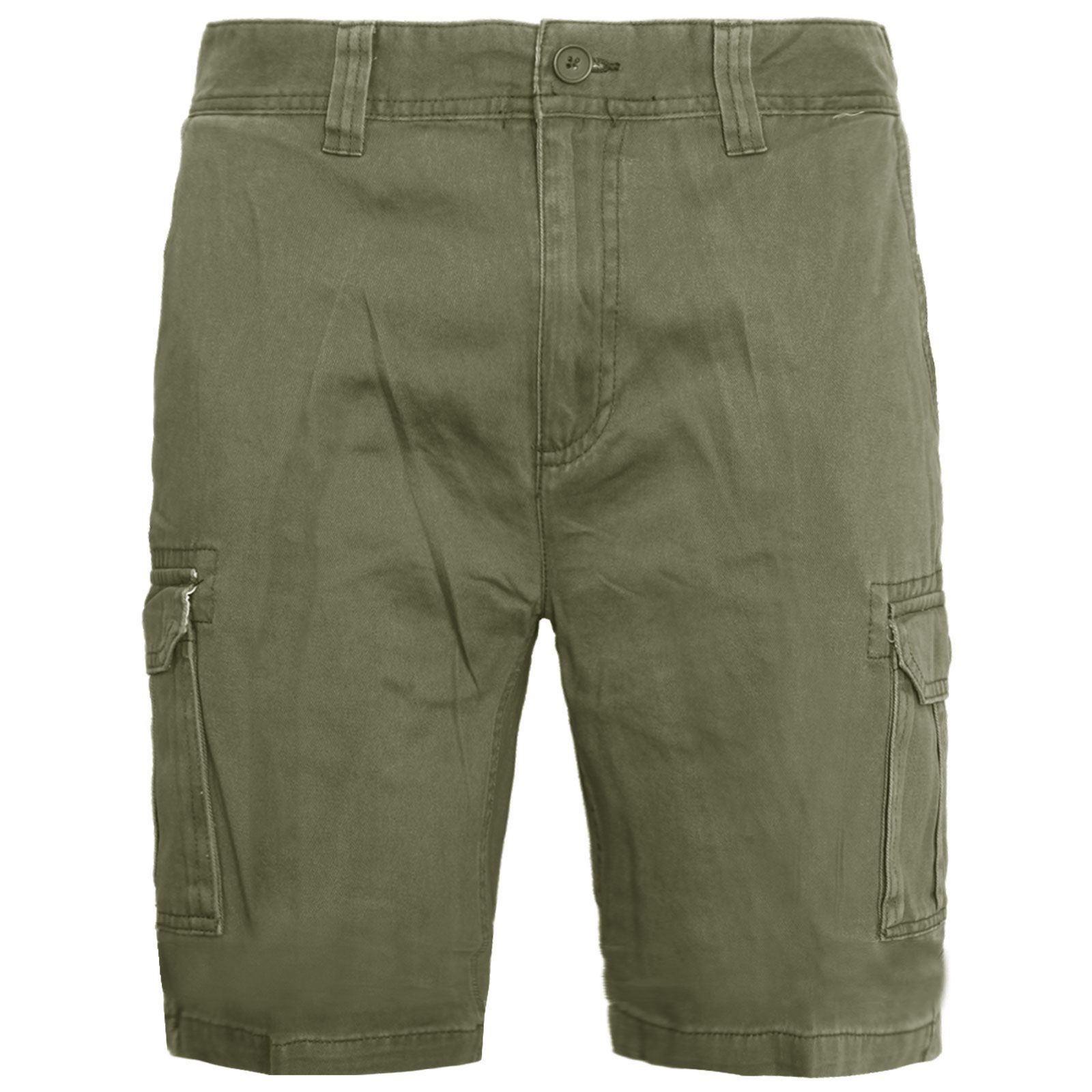 Mens-Multi-Pocket-Cargo-Shorts-Combat-Chino-Half-Pants-100-Cotton-Work-30-46 thumbnail 11