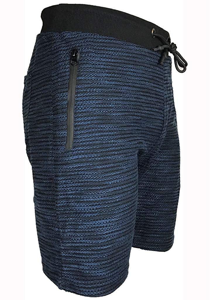 Mens-Summer-Casual-Fleece-Shorts-Zip-Pockets-Sweat-Gym-Jogging-Running-Pants thumbnail 7