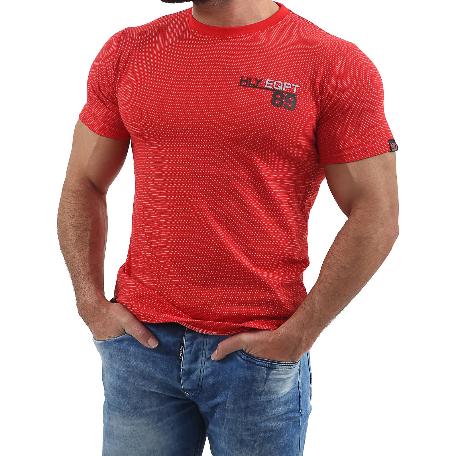 Mens-HLY-EQPT-Printed-T-Shirt-100-Cotton-Gym-Athletic-Training-Tee-Top-Summer thumbnail 43