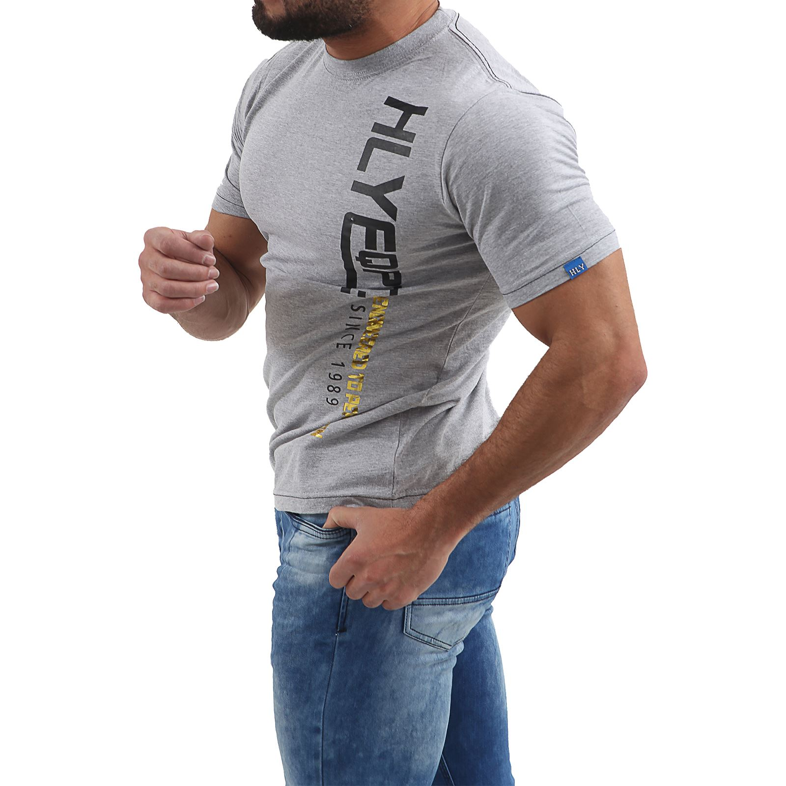 Mens-HLY-EQPT-Printed-T-Shirt-100-Cotton-Gym-Athletic-Training-Tee-Top-Summer thumbnail 9