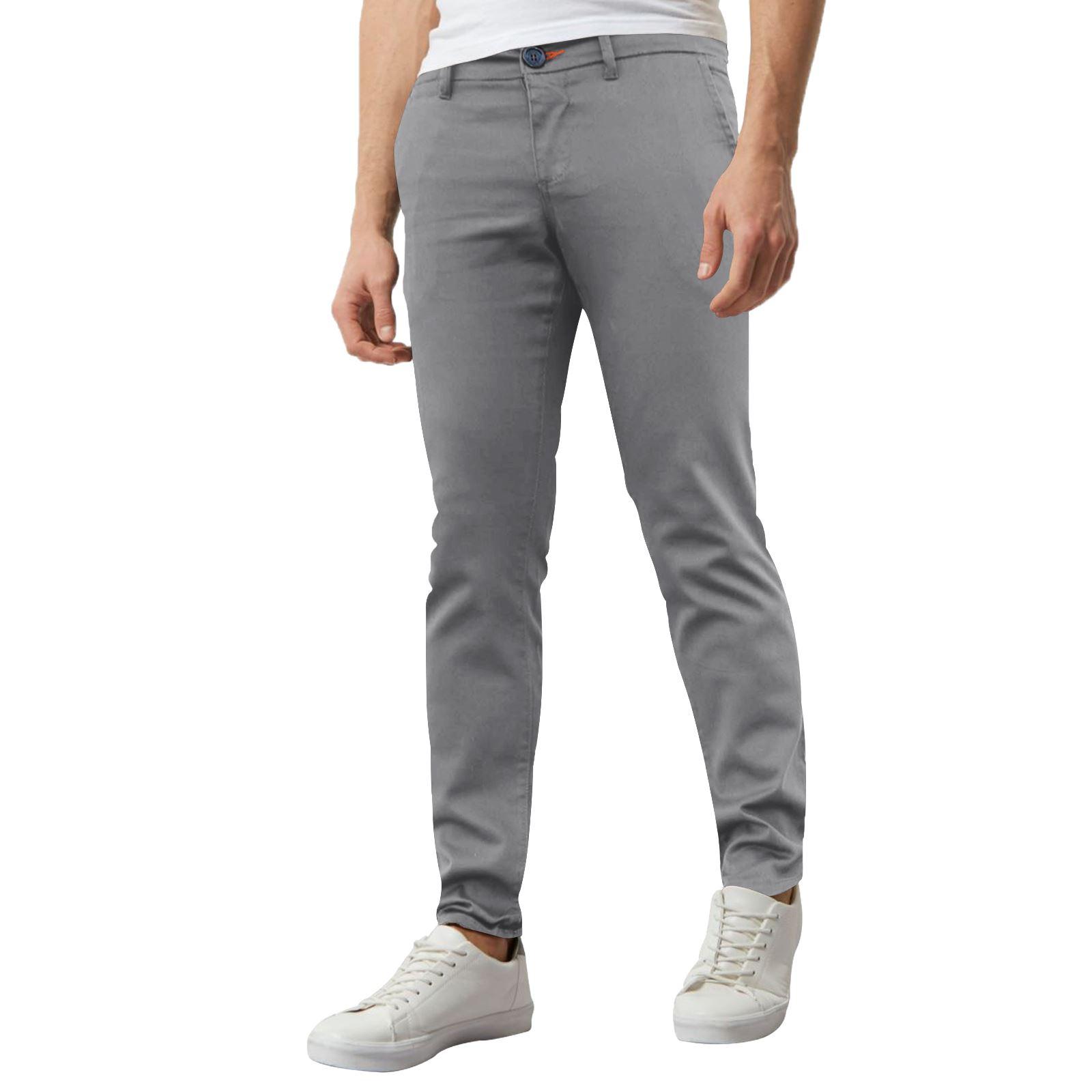 Jeans-Para-Hombre-de-Disenador-Nuevo-chinos-Elastizados-ajustados-Calce-Ajustado-Pantalones-todos miniatura 20