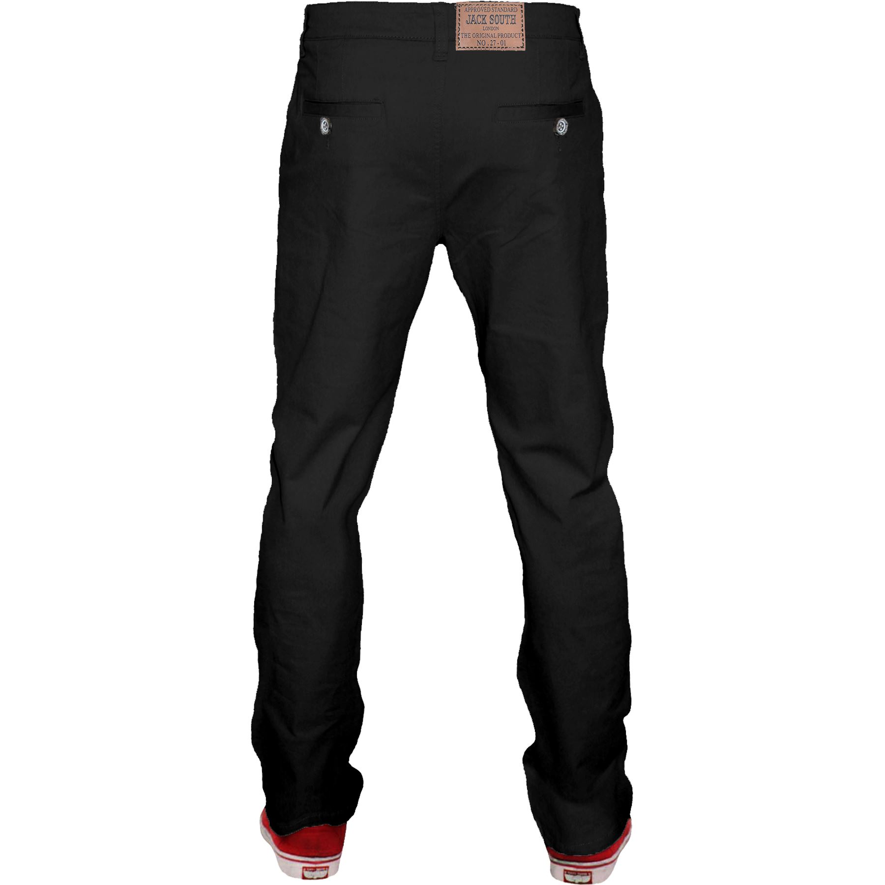 Mens-Chino-Classic-Regular-Fit-Trouser-Casual-Stretch-Spandex-Pants-Size-32-40 thumbnail 4