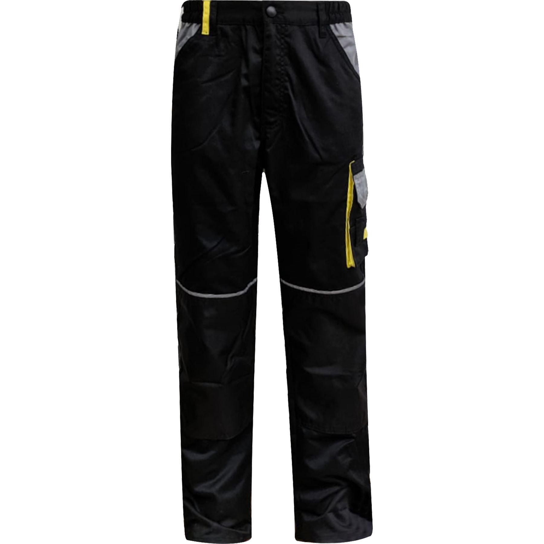 Para-Hombre-Elastico-Cargo-Pantalones-De-Trabajo-Cordura-Resistente-Rodilleras-Bolsillos-Hi-Vis miniatura 3