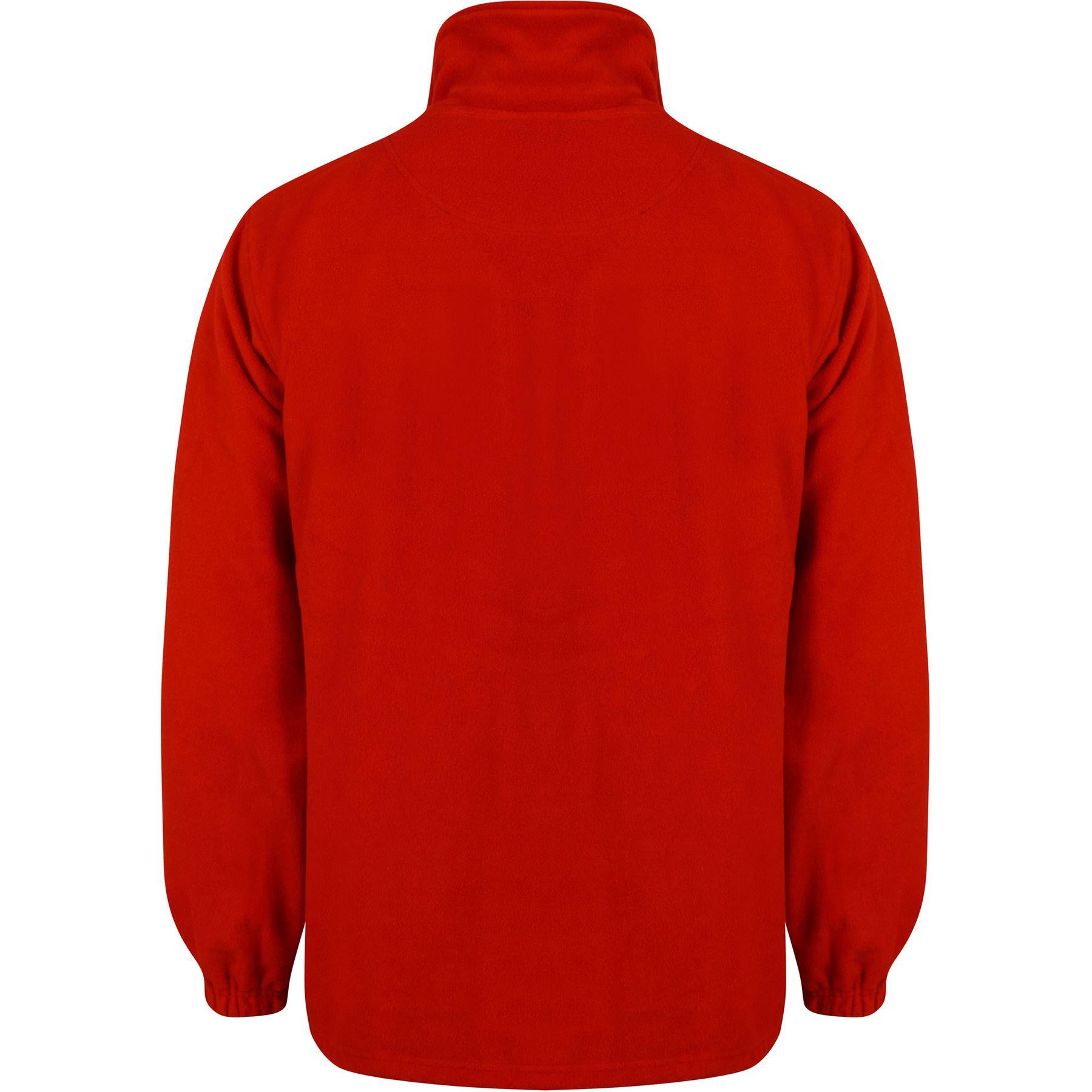 New Mens Anti Pill Zip Up Jacket Polar Fleece Winter Casual Work Wear Warm Coat