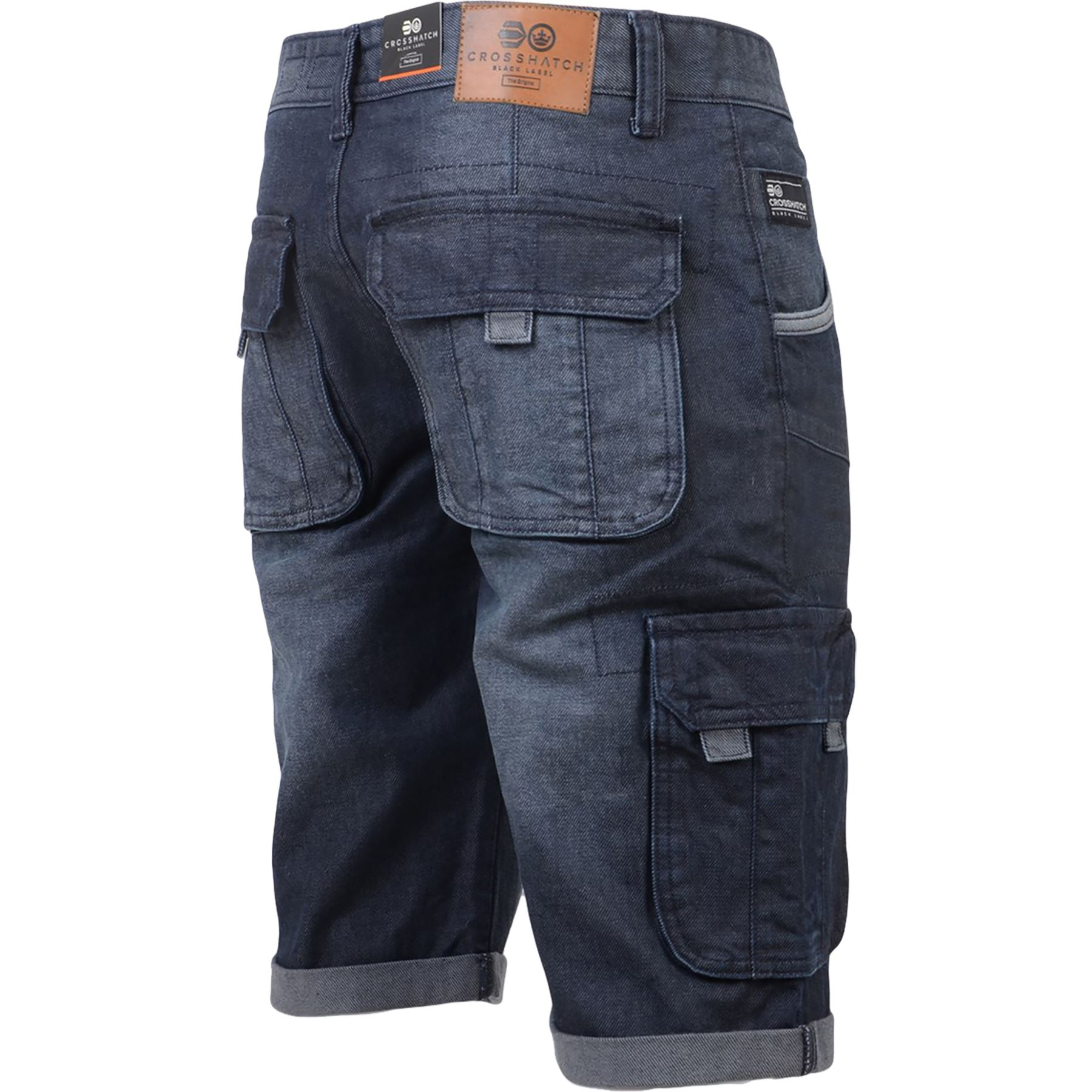 New-Mens-Crosshatch-Canvas-Cargo-Denim-Camo-Shorts-Chino-2019-Styles-30-42-034 thumbnail 10