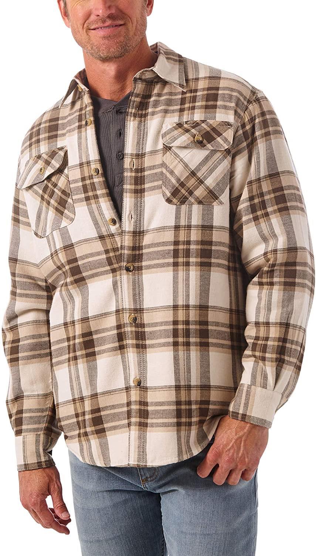 miniature 22 - Homme-Wrangler-Sherpa-Polaire-Double-Lumberjack-Rembourre-Veste-Chemise-Boutonnee