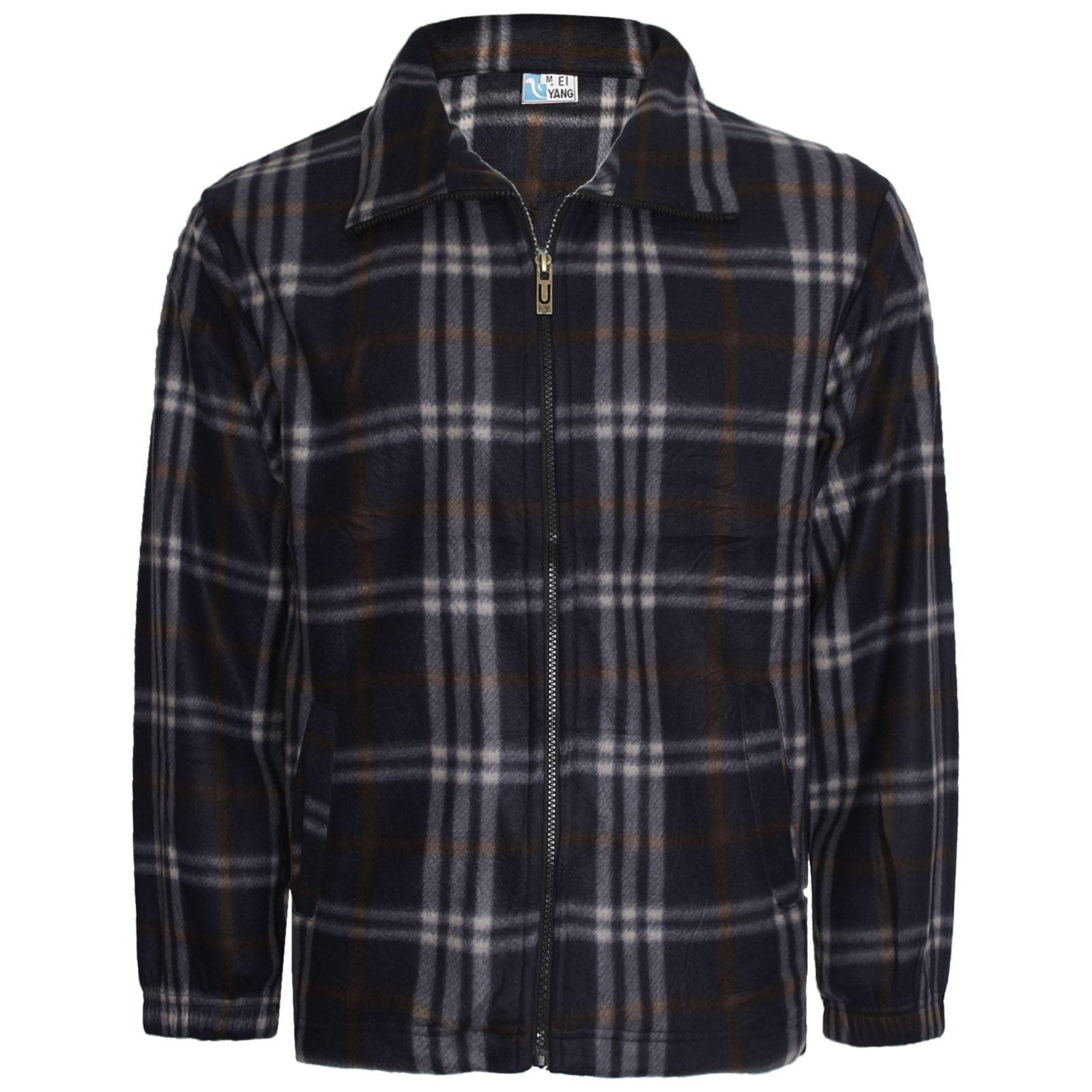 New mens warm brushed fleece flannel lumber jack work for Mens warm flannel shirts