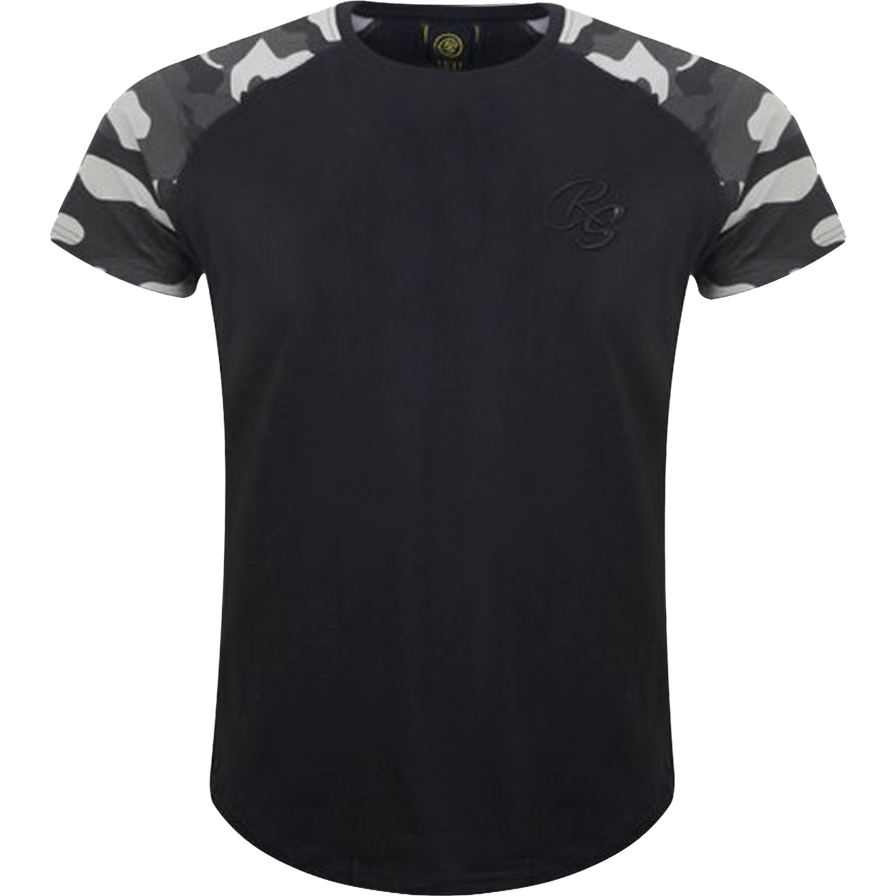 New-Mens-Crosshatch-T-Shirt-Summer-Contrast-Fade-2-Tone-Short-Sleeved-Top-Tee thumbnail 6
