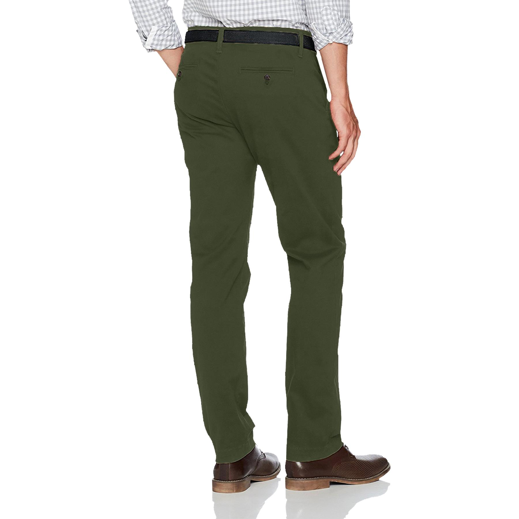 New-Mens-Ex-Store-Chino-Trousers-Regular-Fit-Straight-Cotton-Casual-Work-Pants thumbnail 11
