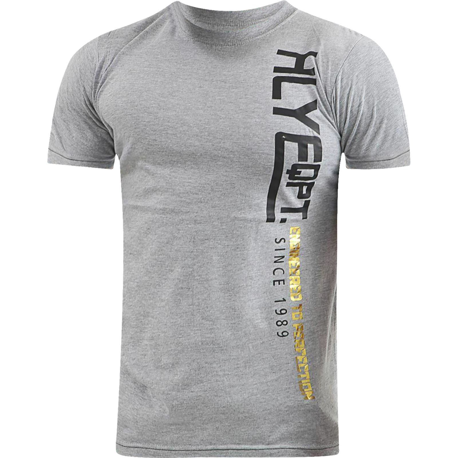 Mens-HLY-T-Shirt-Printed-Designer-100-Cotton-Gym-Athletic-Crew-Neck-Top-Tee thumbnail 16