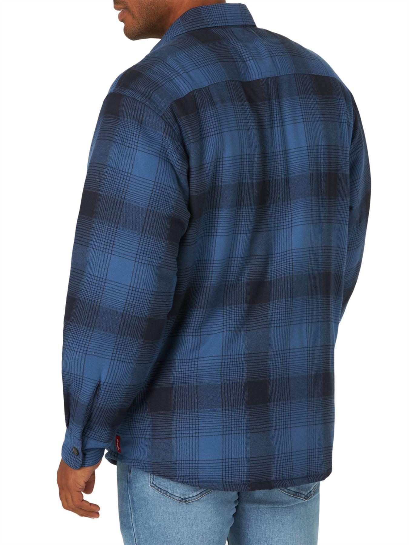 miniature 3 - Homme-Wrangler-Sherpa-Polaire-Double-Lumberjack-Rembourre-Veste-Chemise-Boutonnee