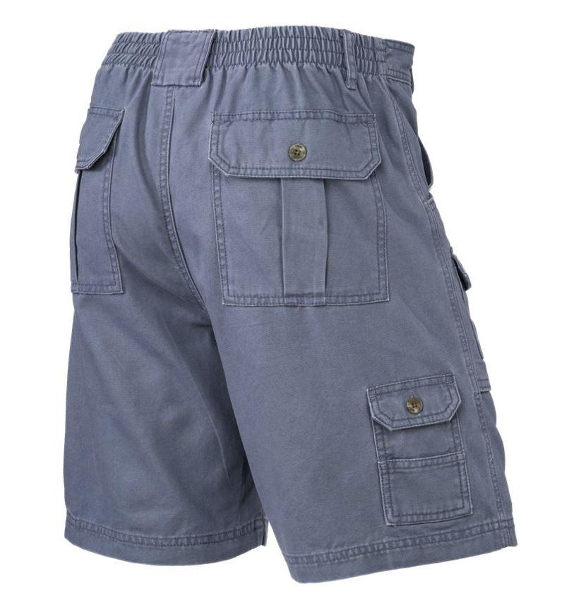 Mens-Elasticated-Cargo-Chino-Combat-Shorts-100-Cotton-Work-King-Pants-32-54 thumbnail 3
