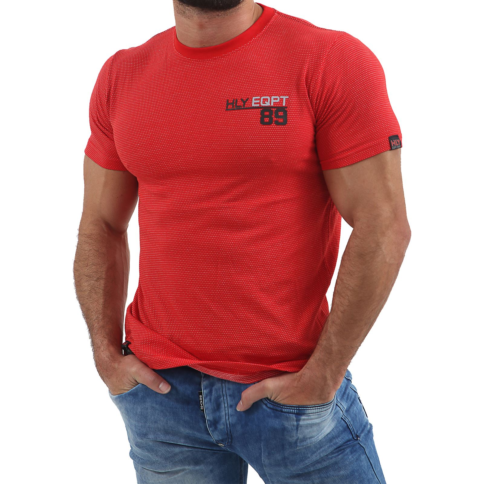 Mens-HLY-EQPT-Printed-T-Shirt-100-Cotton-Gym-Athletic-Training-Tee-Top-Summer thumbnail 42
