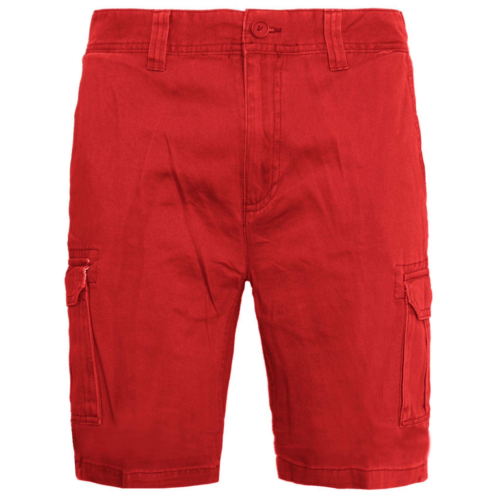 Mens-Multi-Pocket-Cargo-Shorts-Combat-Chino-Half-Pants-100-Cotton-Work-30-46 thumbnail 17