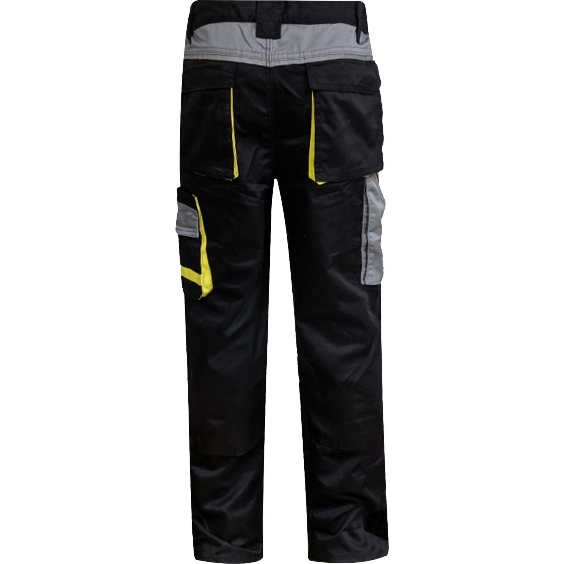 Para-Hombre-Elastico-Cargo-Pantalones-De-Trabajo-Cordura-Resistente-Rodilleras-Bolsillos-Hi-Vis miniatura 4