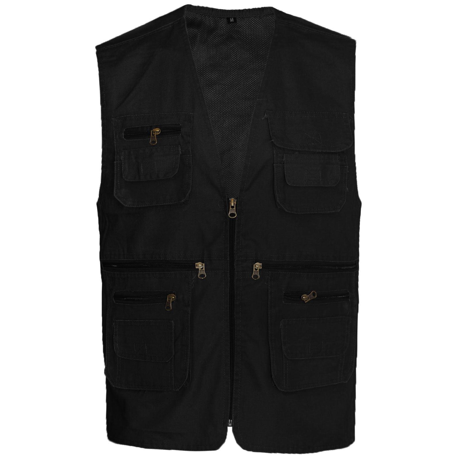 Mens multipockets lightweight casual summer gilet mesh for Lightweight fishing pants