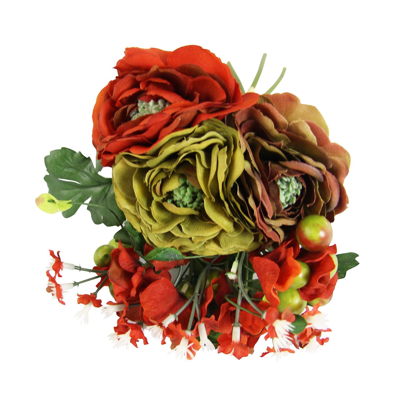 Ranunculus and Hydrangea Bundle Bridal Artificial Fake Flowers ...