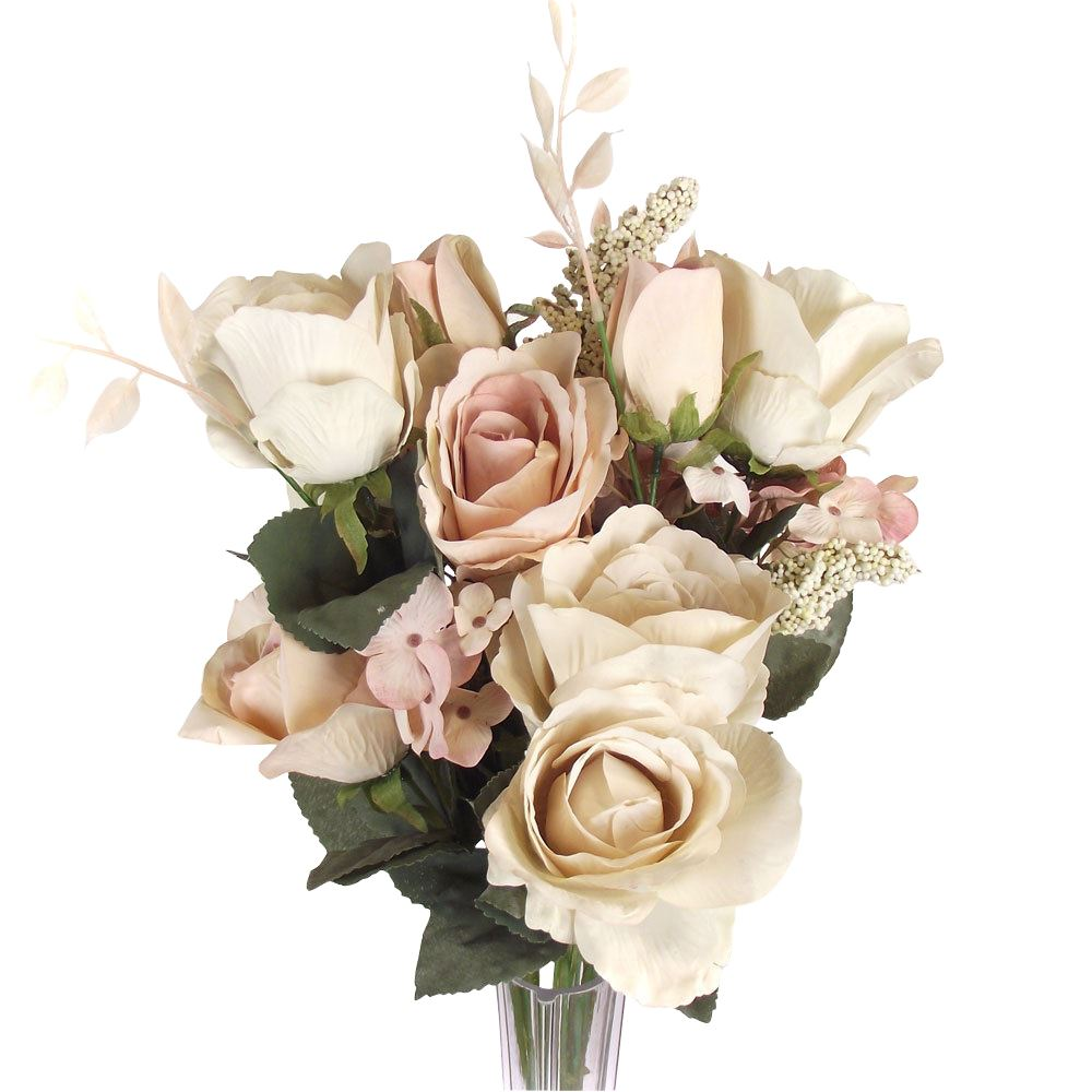 Large Vintage Shabby Chic Artificial Wedding Bouquet Flowers Foam ...