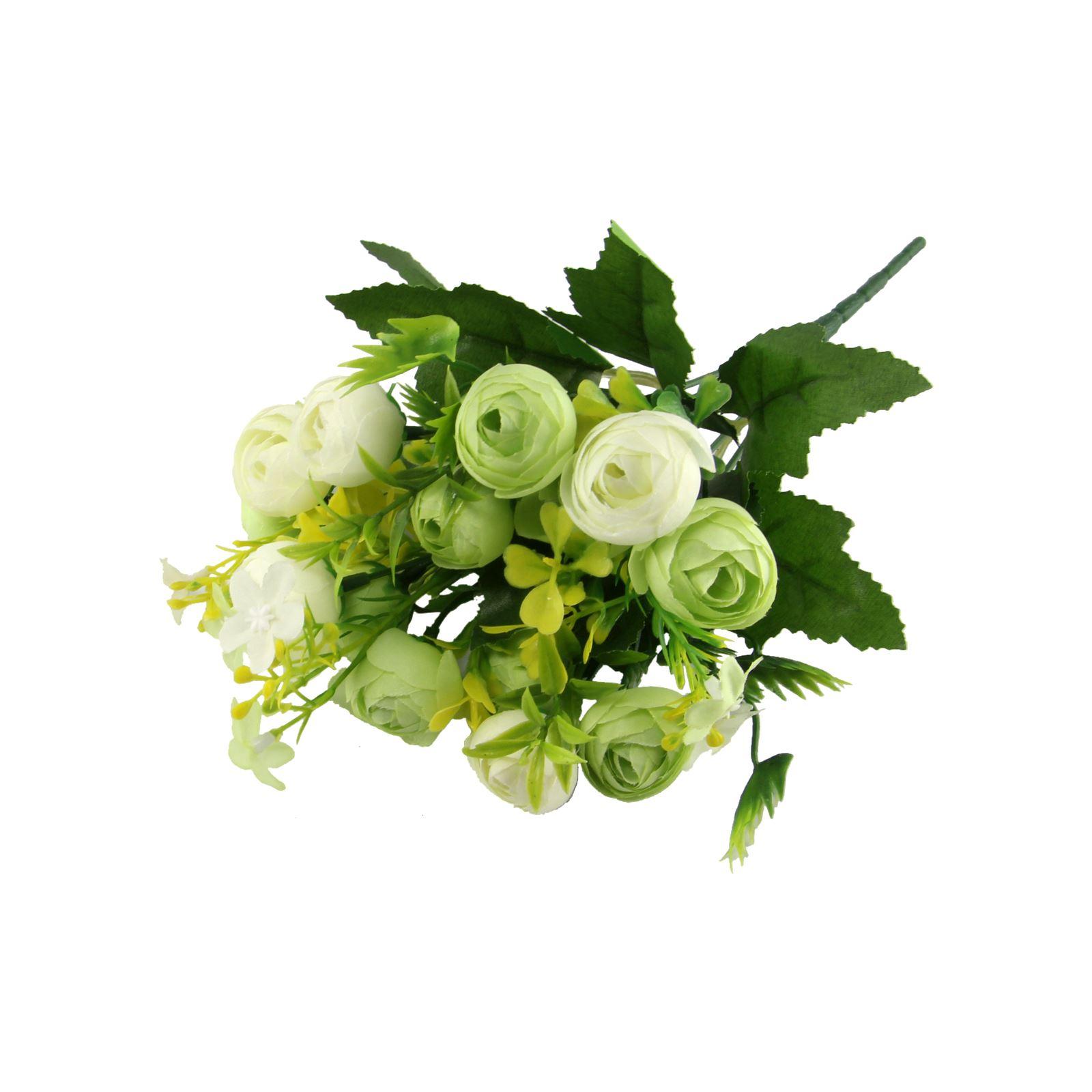 15 Head Small Ranunculus Bouquet Artificial Silk Flowers Bunch
