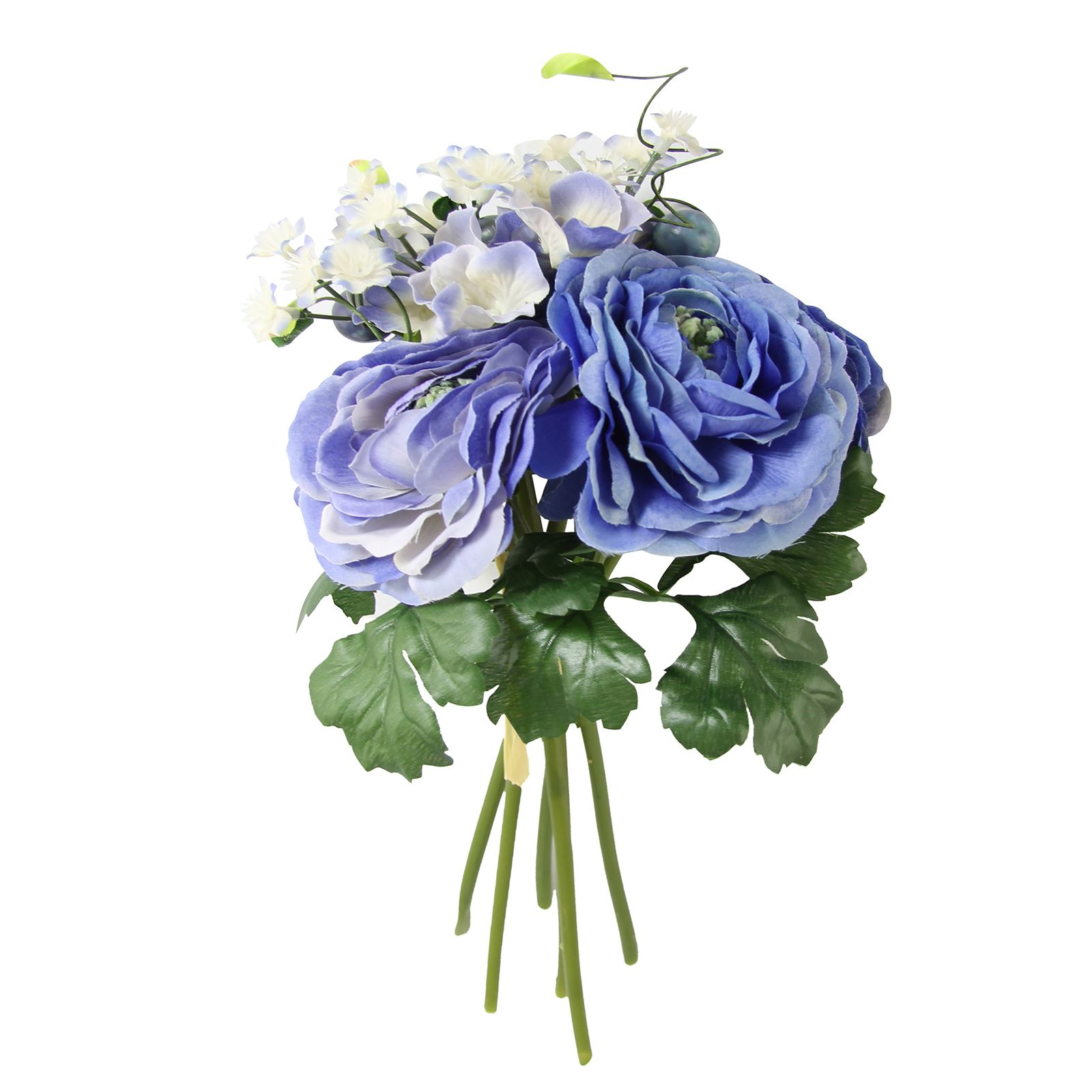 Ranunculus And Hydrangea Bundle Bridal Artificial Fake Flowers