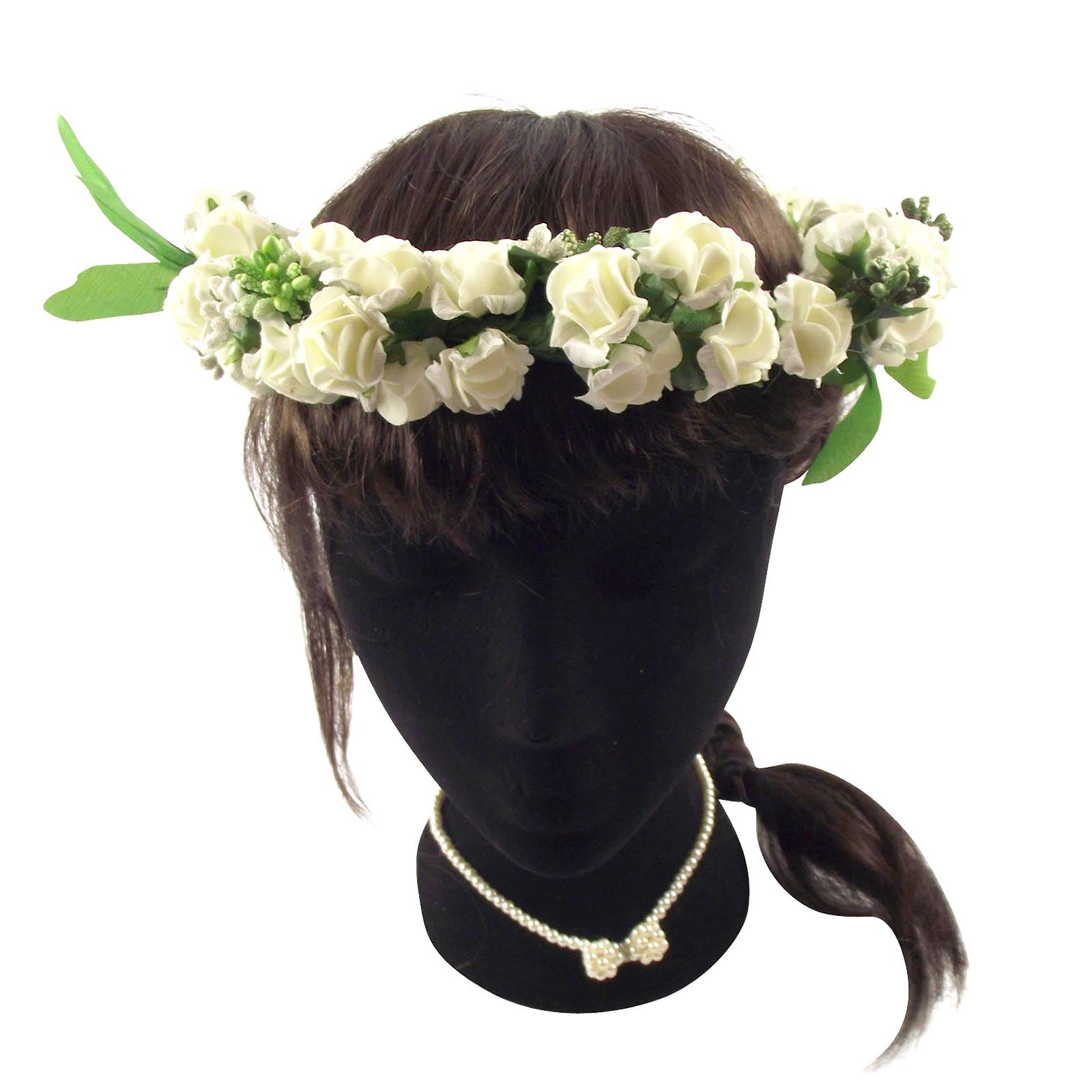 Soft Foam Artificial Flower Crown Festival Head Wear Floral Hair