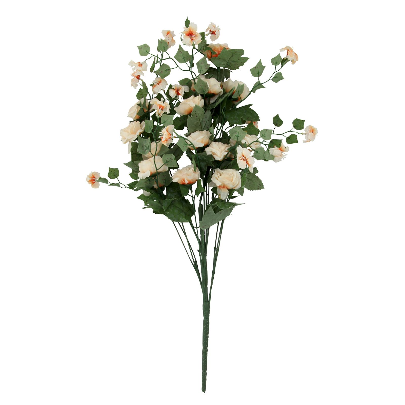 Silk Flower Bouquets Do Yourself: Extra Thick Large Rose And Blossom Bush Bouquet Bunch