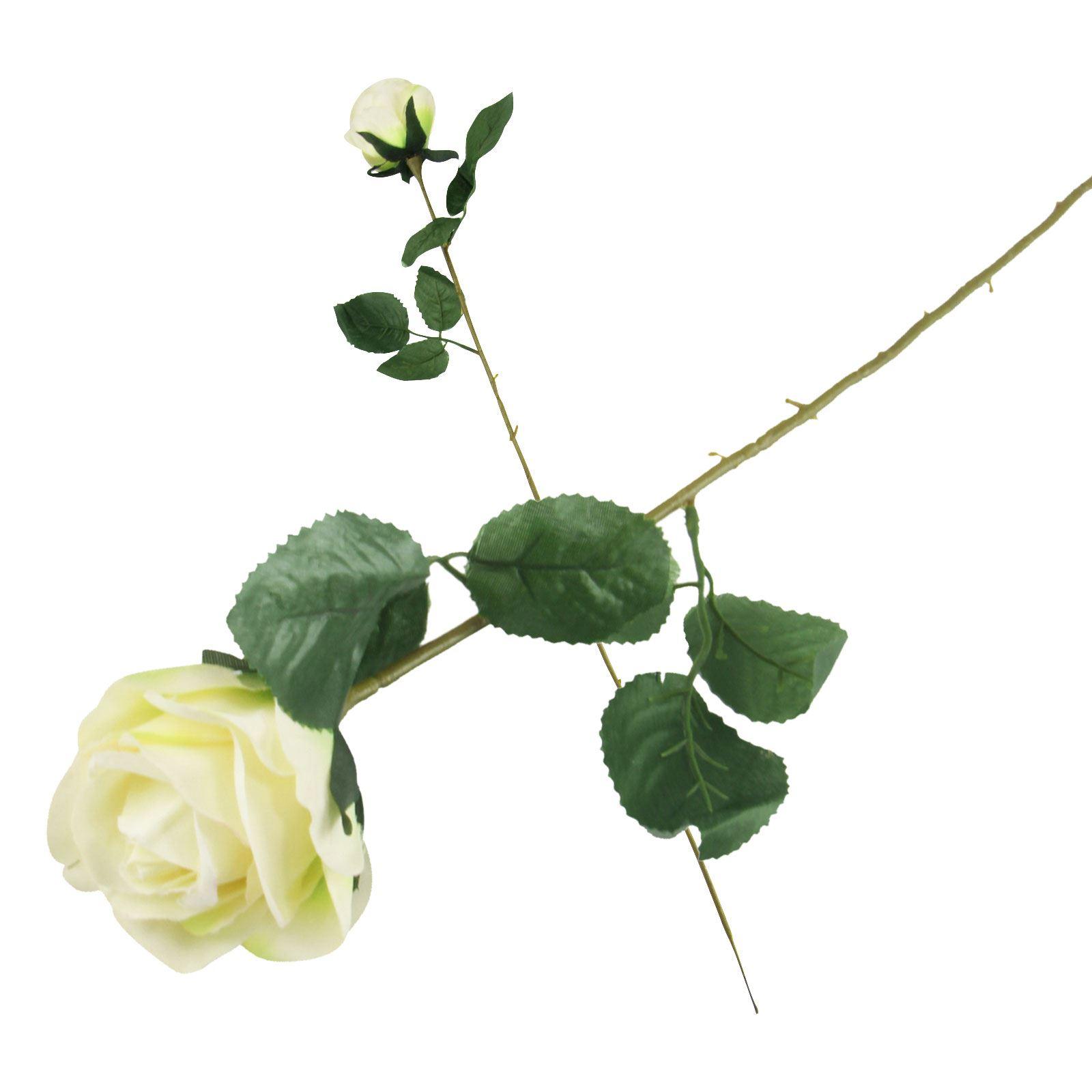 Single Eco Rose Stem Silk Artificial Silk Flowers Funeral Ebay