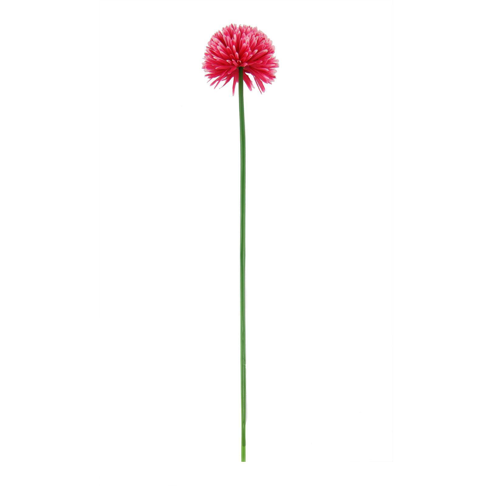 Single Xl Pompom Mum Flower Artificial Silk Flowers Long Stemmed