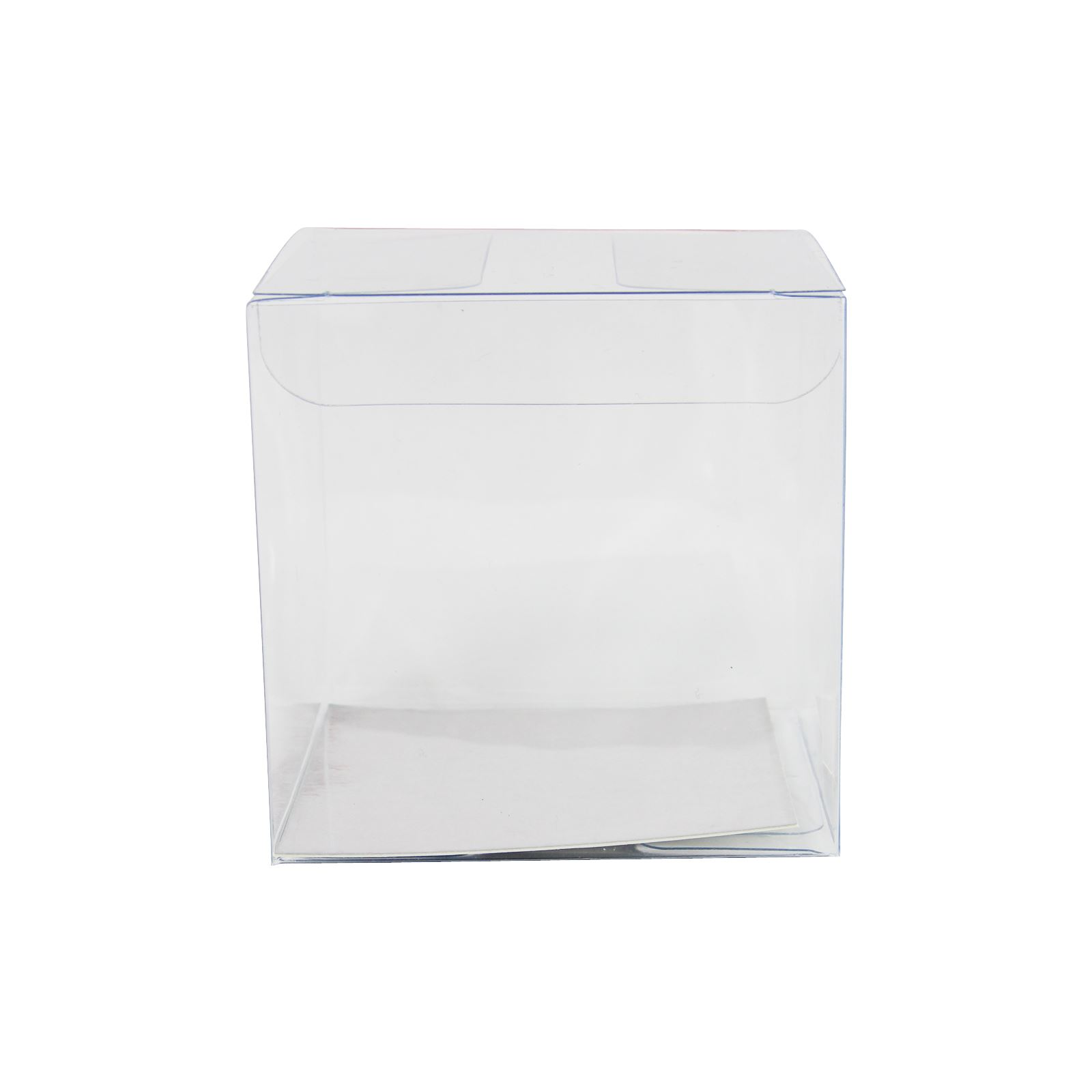 Clear Cube Favour Boxes with Metallic Inserts - PVC Wedding Favor ...