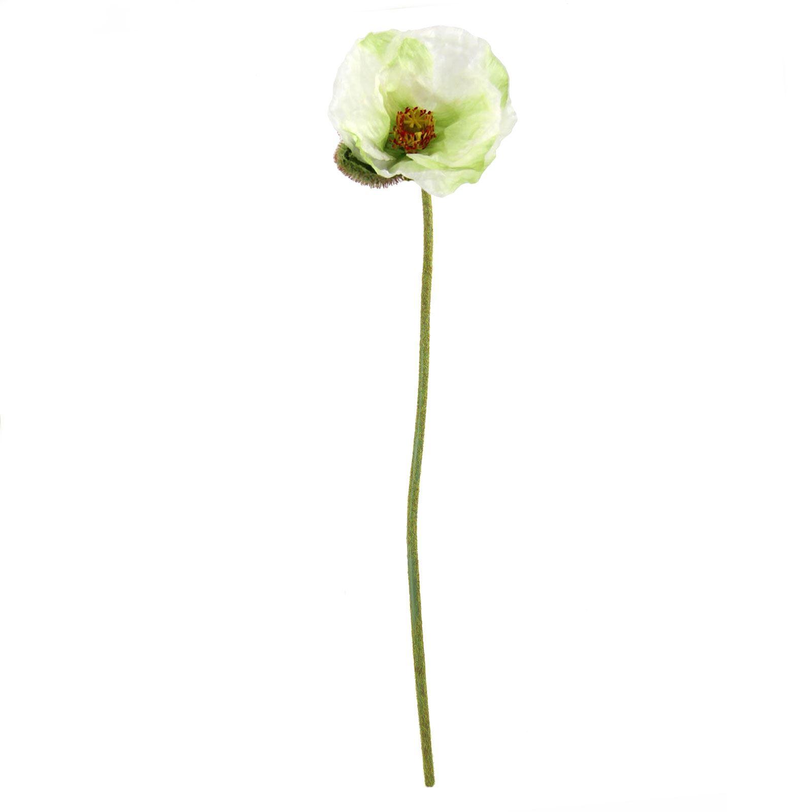 Single Premium Poppy Stem Artificial Silk Fake Flowers Long Spray