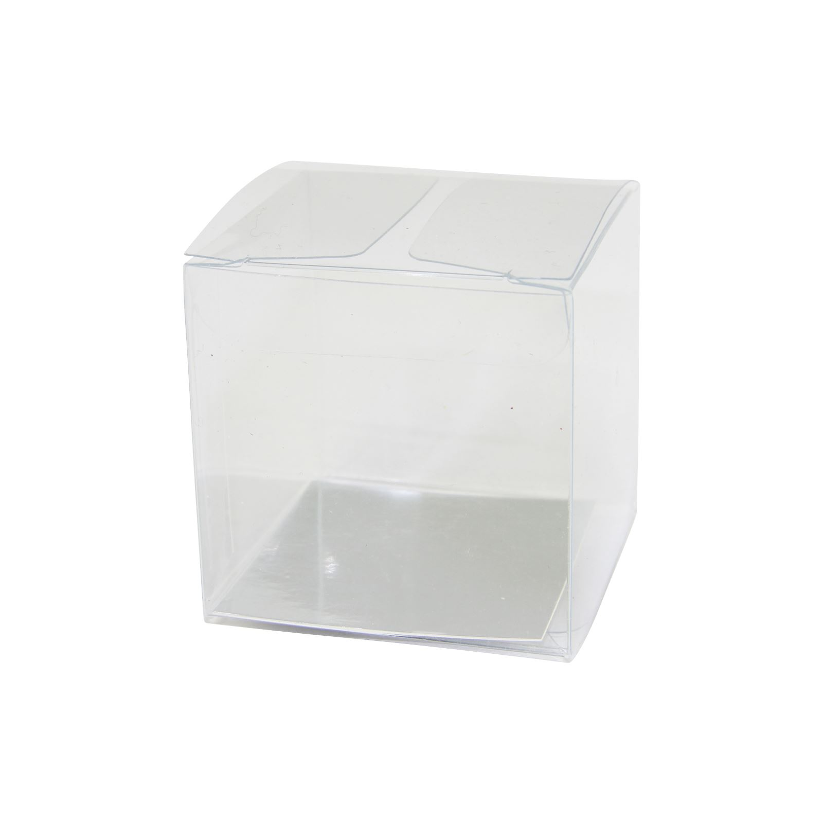 Clear Cube Favour Boxes With Metallic Inserts Pvc Wedding Favor