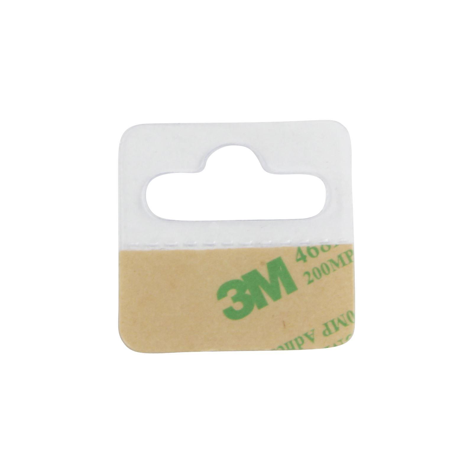 Clear Hang Tabs J Euro Hook Hole Punch Self Adhesive