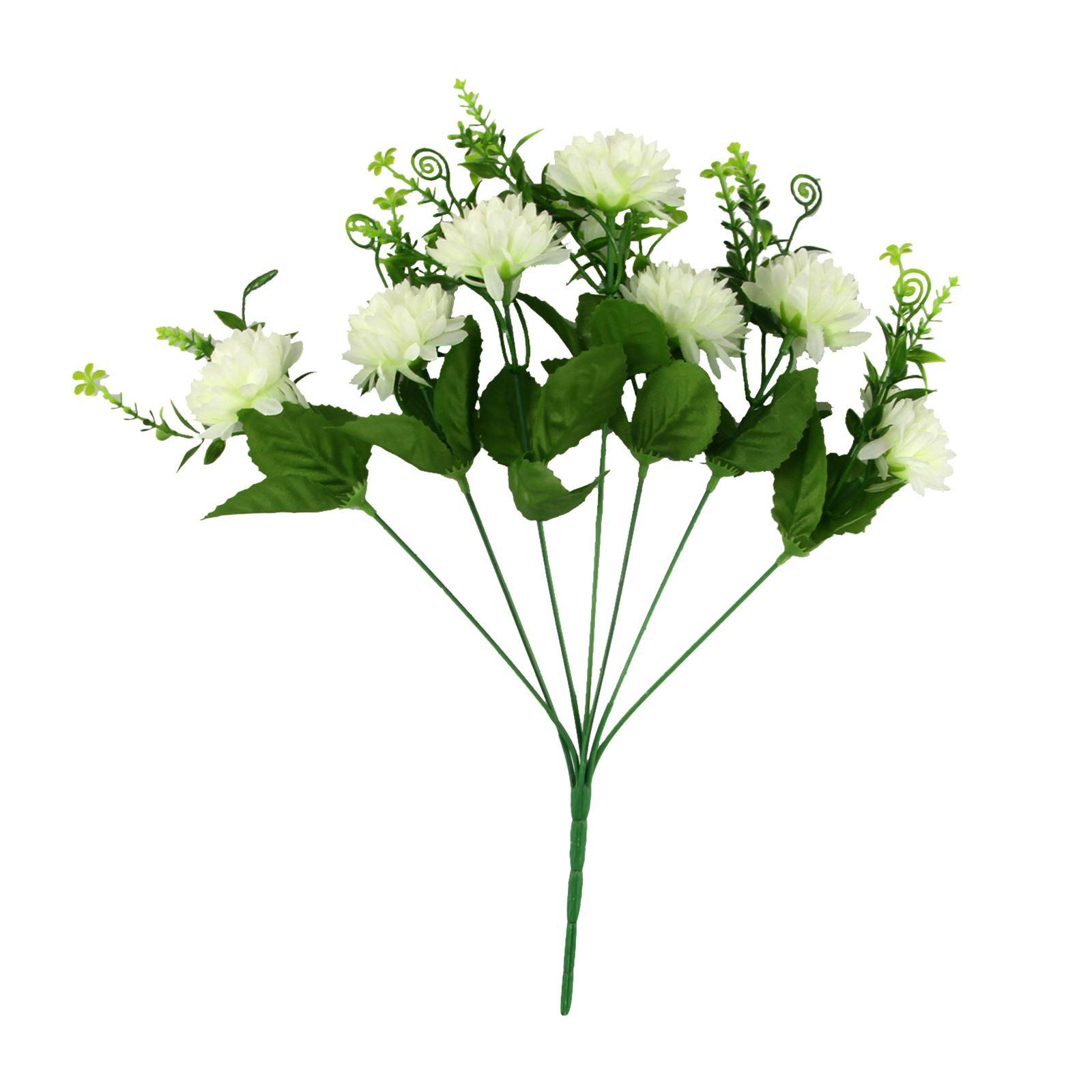 7 Head Small Spiky Mum Flower Bunch Artificial Silk Flowers