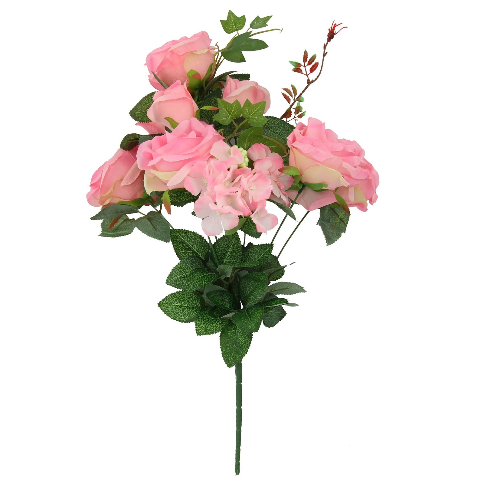 XL 9 Head Rose and Hydrangea Bouquet! Quality Large Fake ...