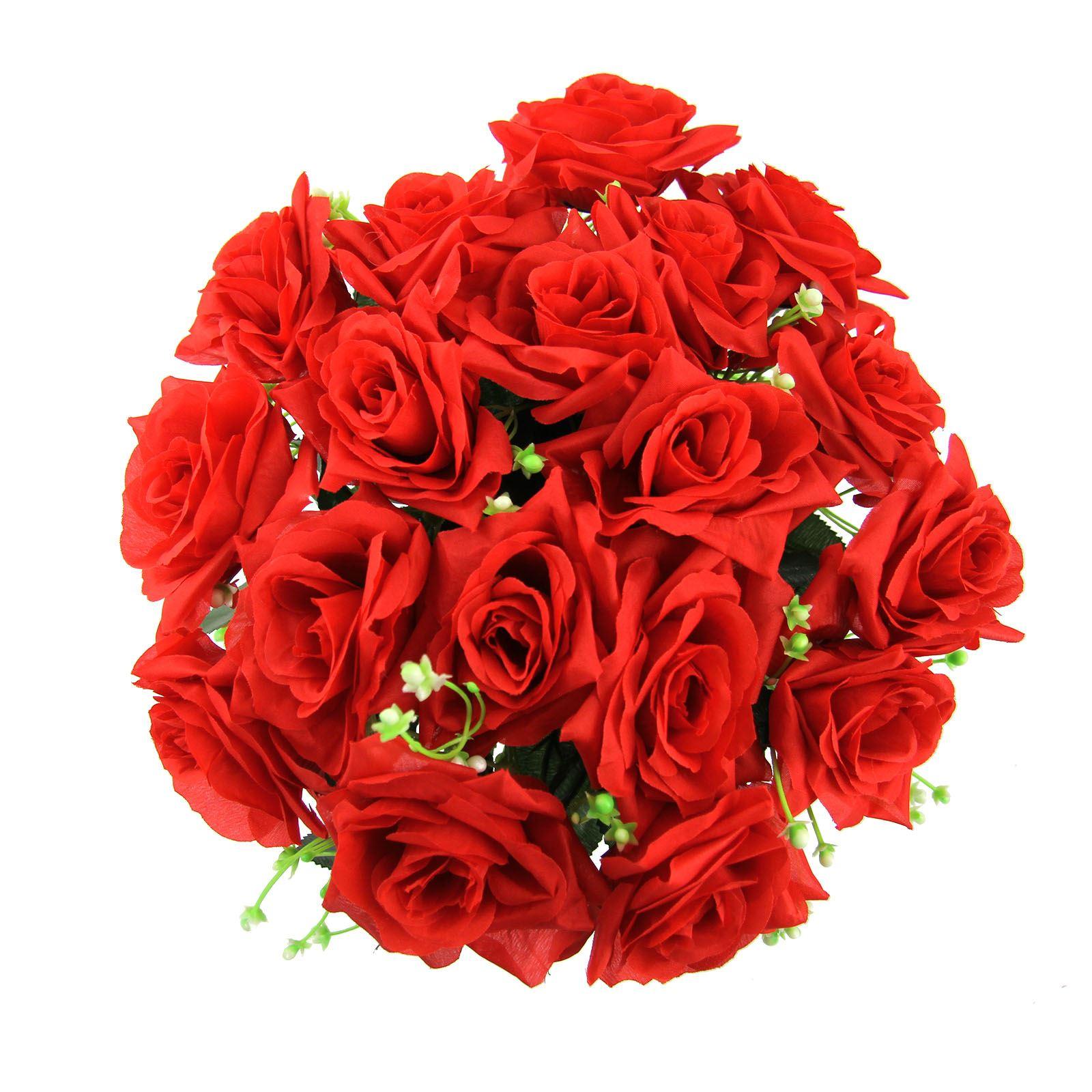 Xl 18 head open rose bouquet large premium fake silk artificial picture 5 of 7 izmirmasajfo