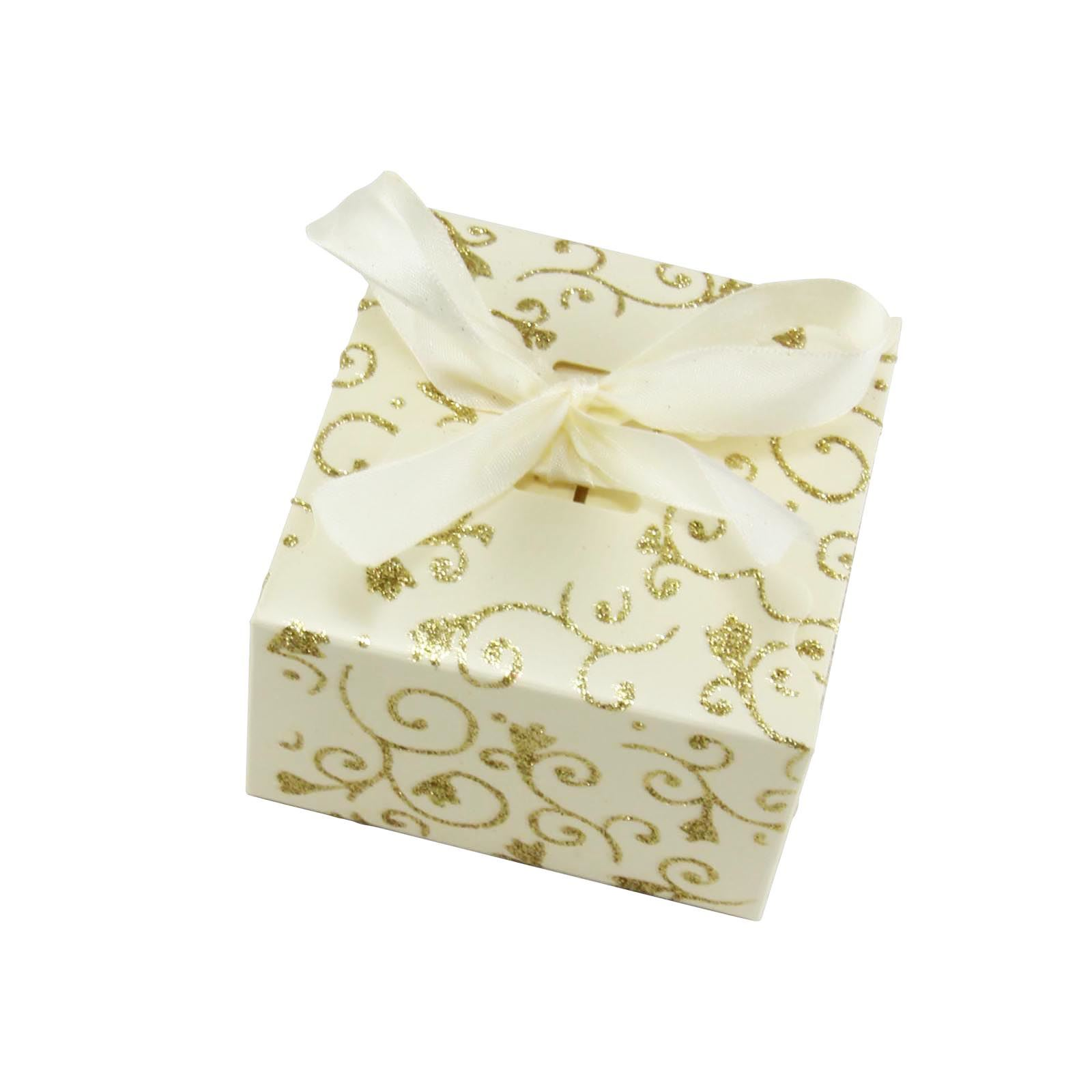 XL Large Glitter Swirl Favour Boxes with Ribbon - Wedding Asian ...