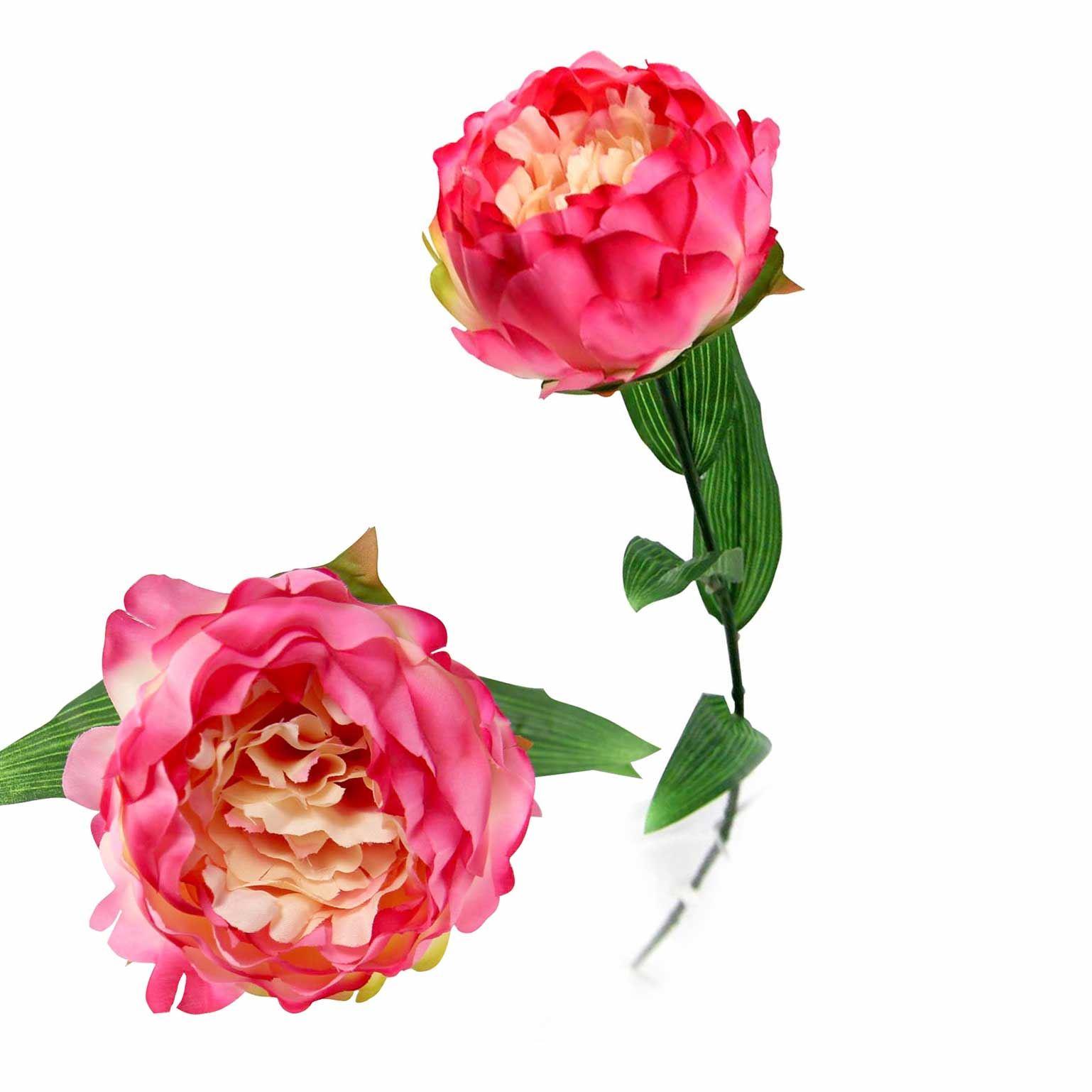 Single Large Peony Artificial Silk Flowers Craft Shabby Chic