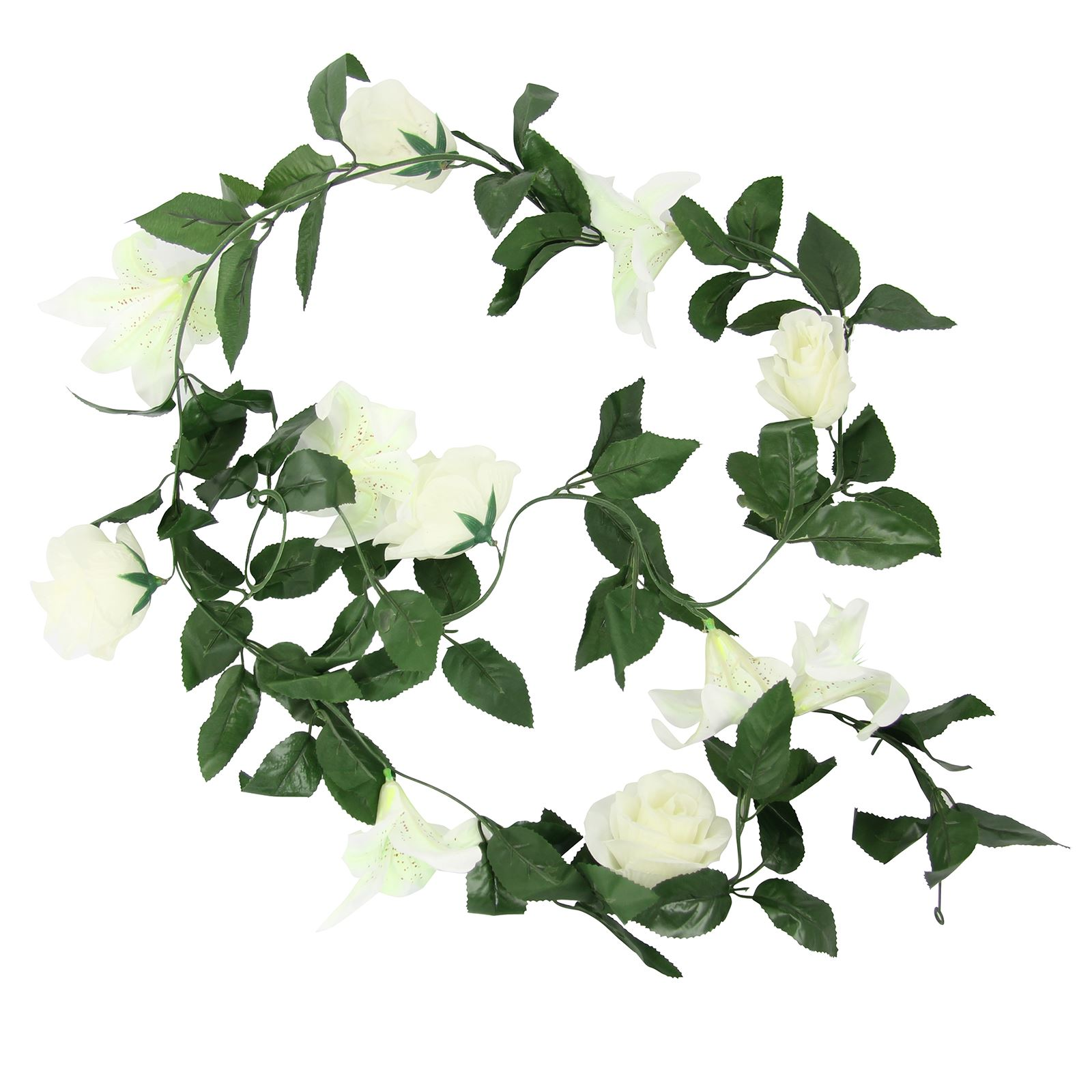 Rose and lily flower garland artificial fake flowers vine ivy rose and lily flower garland artificial fake flowers izmirmasajfo