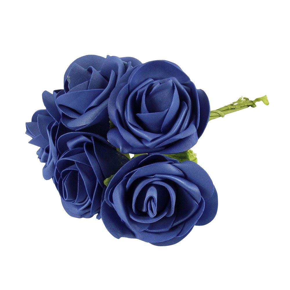 Silk Flower Bouquets Do Yourself: Large Colourfast Roses With Leaf Artificial Foam Flowers