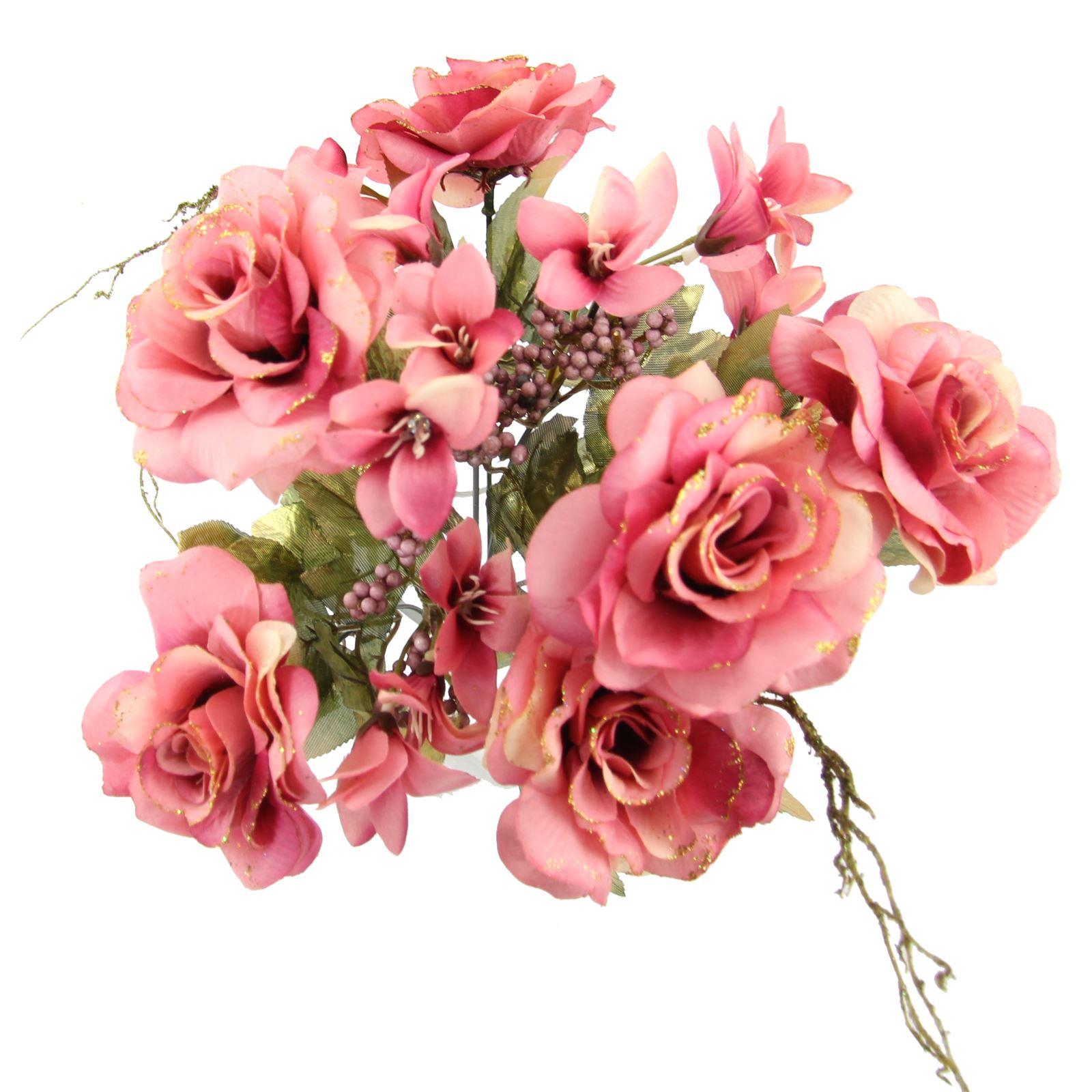 Rose and alstroemeria glitter bouquet artificial silk flowers rose and alstroemeria glitter bouquet artificial silk flowers izmirmasajfo