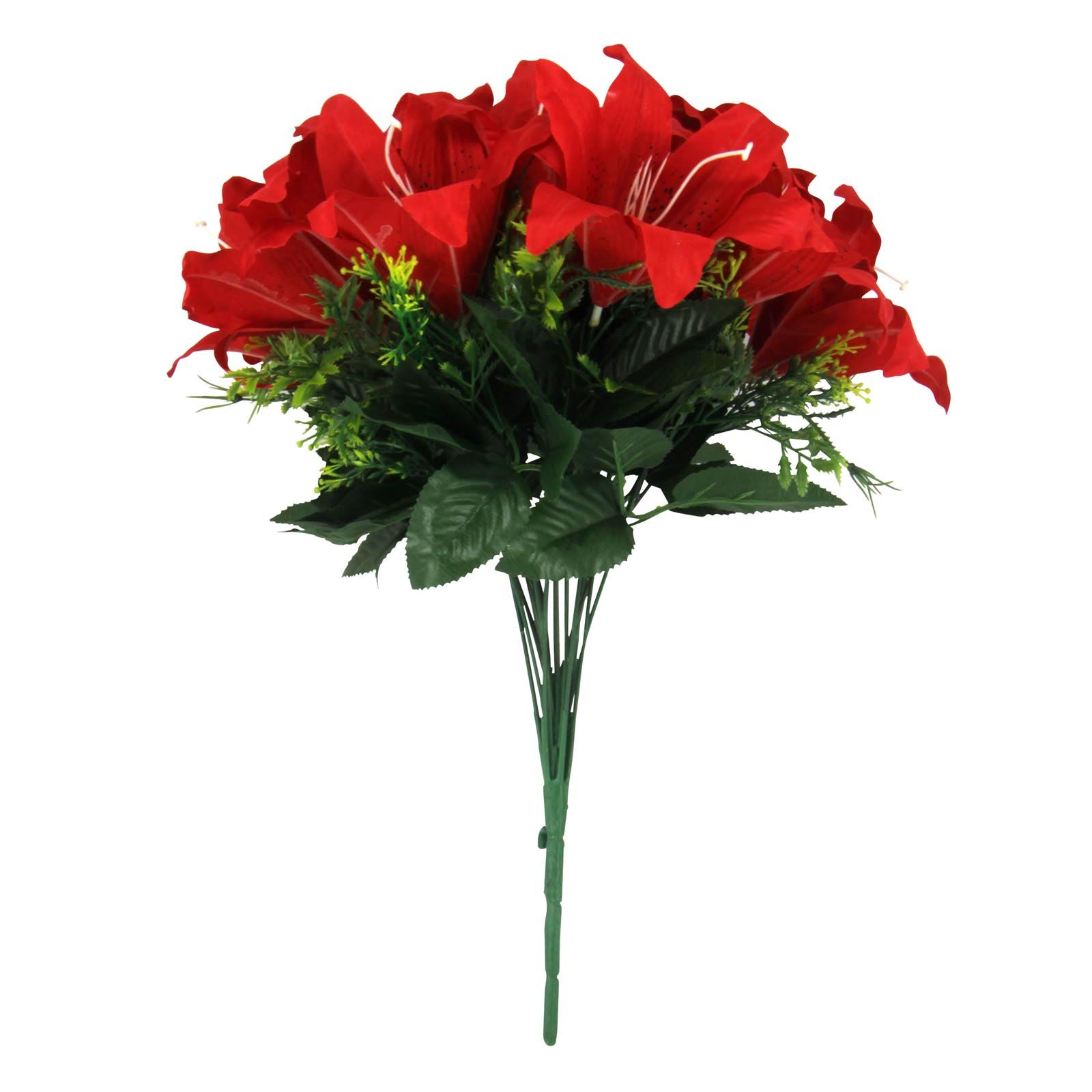 Giant 18 head premium lily bouquet artificial silk flowers fake giant 18 head premium lily bouquet artificial silk izmirmasajfo Image collections