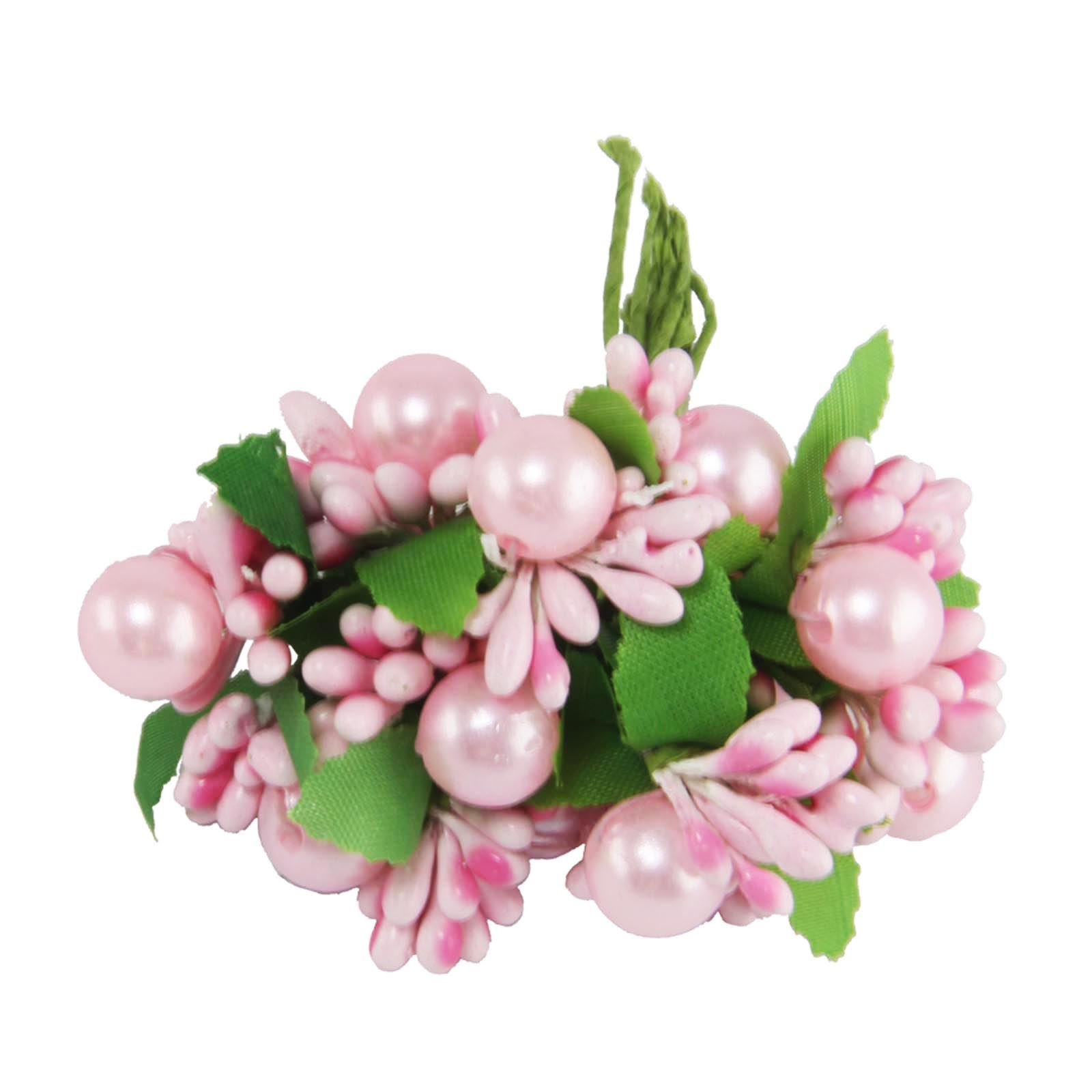 Small bunch of pearl and stamen embellishment flowers for Small flowers for crafts