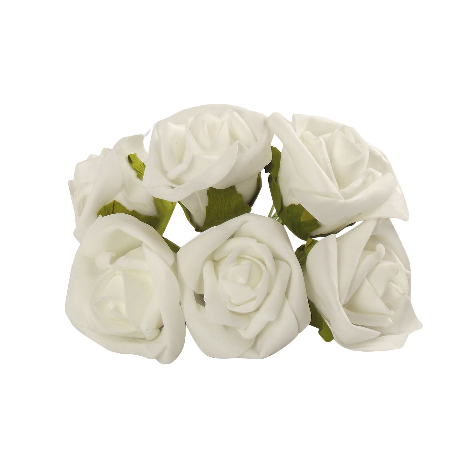 Bunch of 6 soft colourfast roses artificial foam flowers wedding picture 2 of 2 mightylinksfo